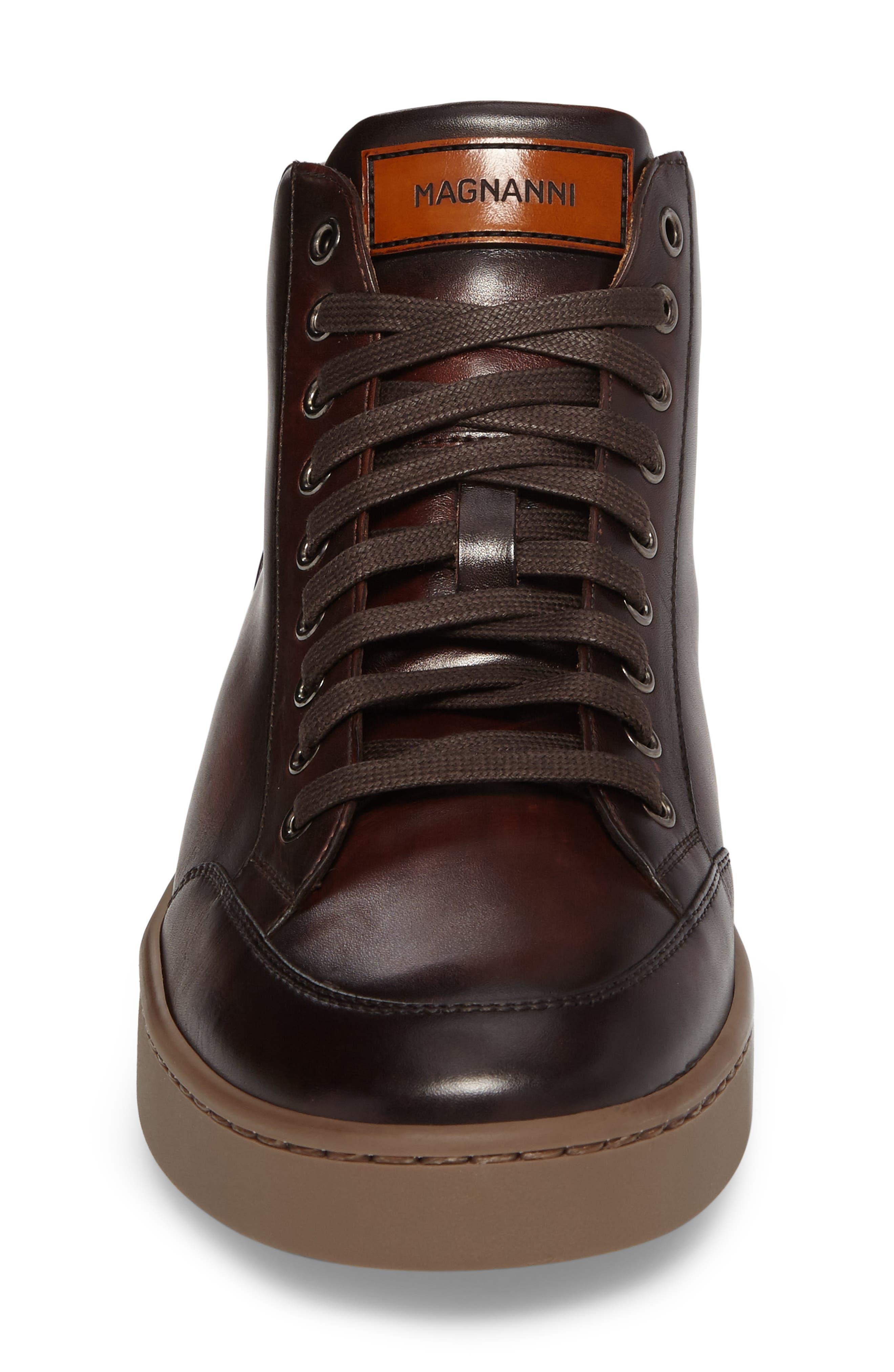 Carmel Sneaker,                             Alternate thumbnail 4, color,                             Mid Brown Leather