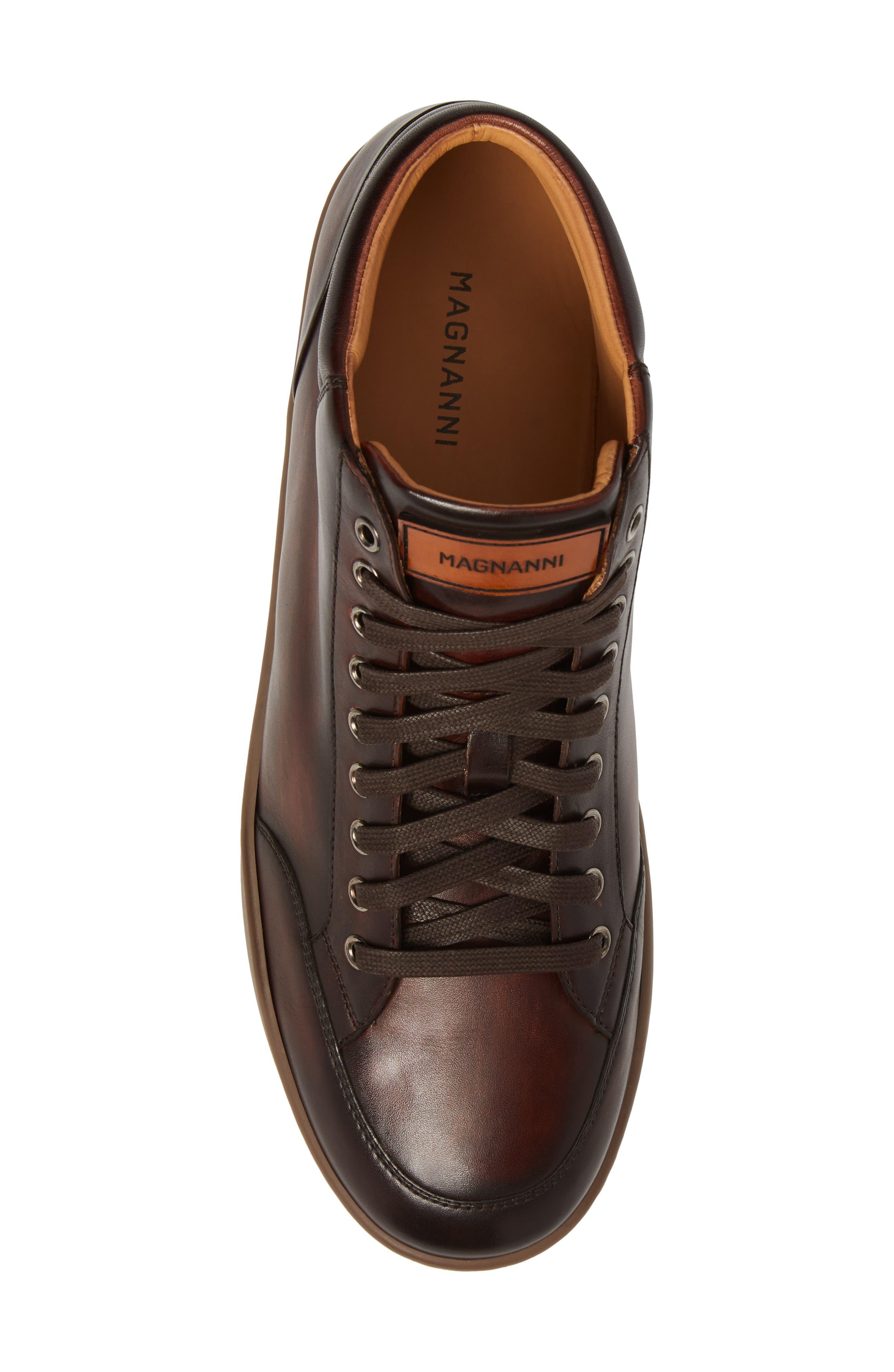 Carmel Sneaker,                             Alternate thumbnail 5, color,                             Mid Brown Leather