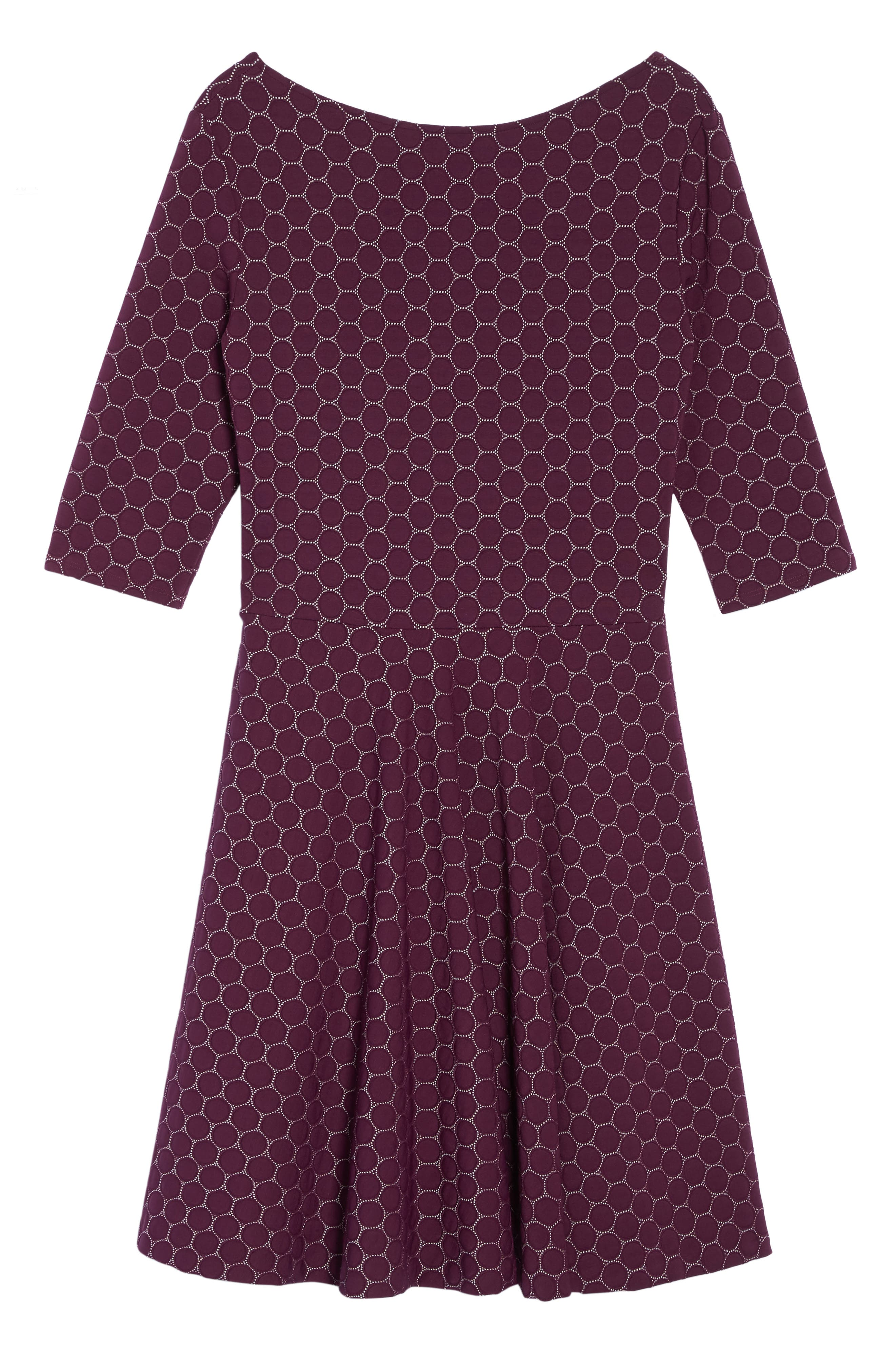 Alternate Image 6  - Leota Circle Knit Fit & Flare Dress (Plus Size)
