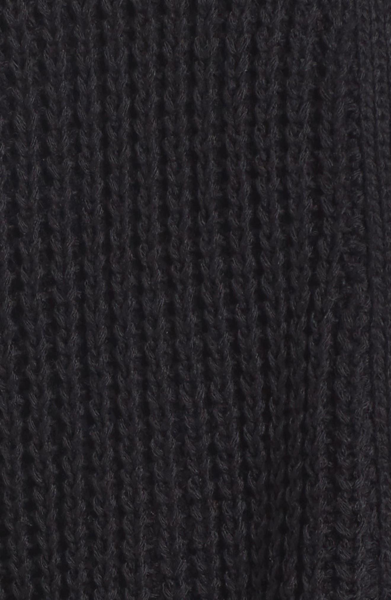 Open Stitch Detail Cardigan,                             Alternate thumbnail 5, color,                             Black