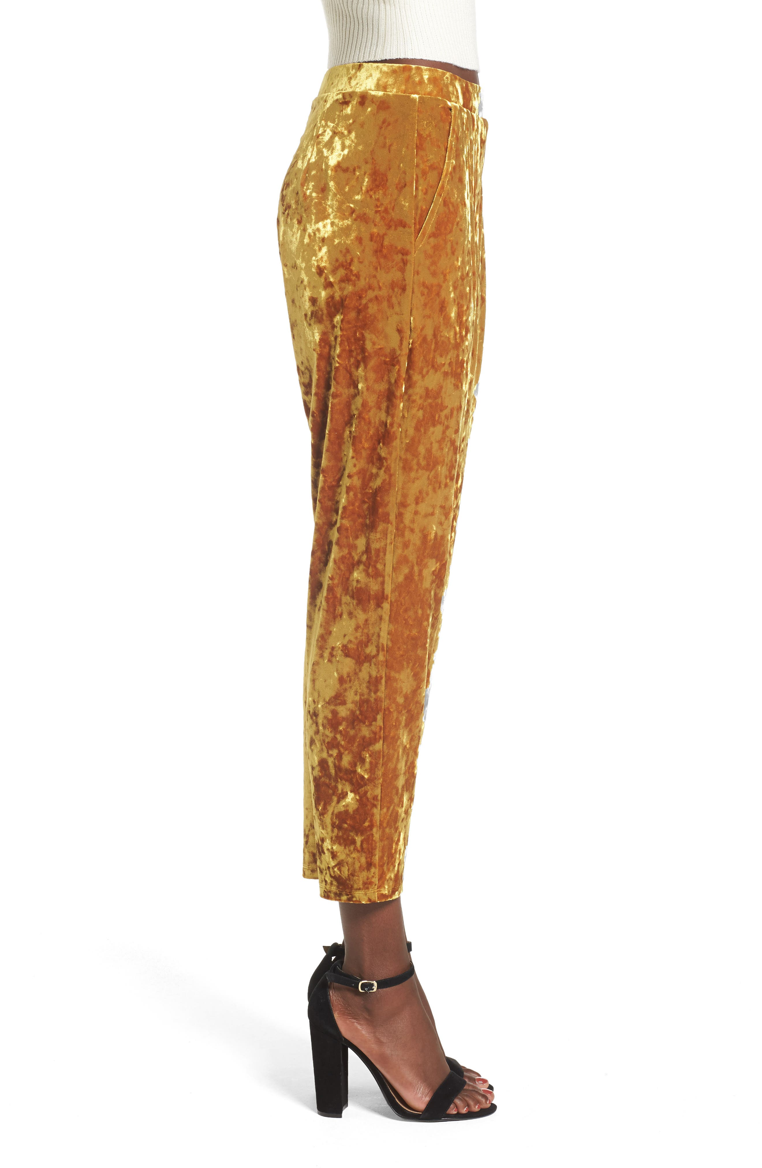 Alternate Image 3  - Leith Pleat Front Velour Pants