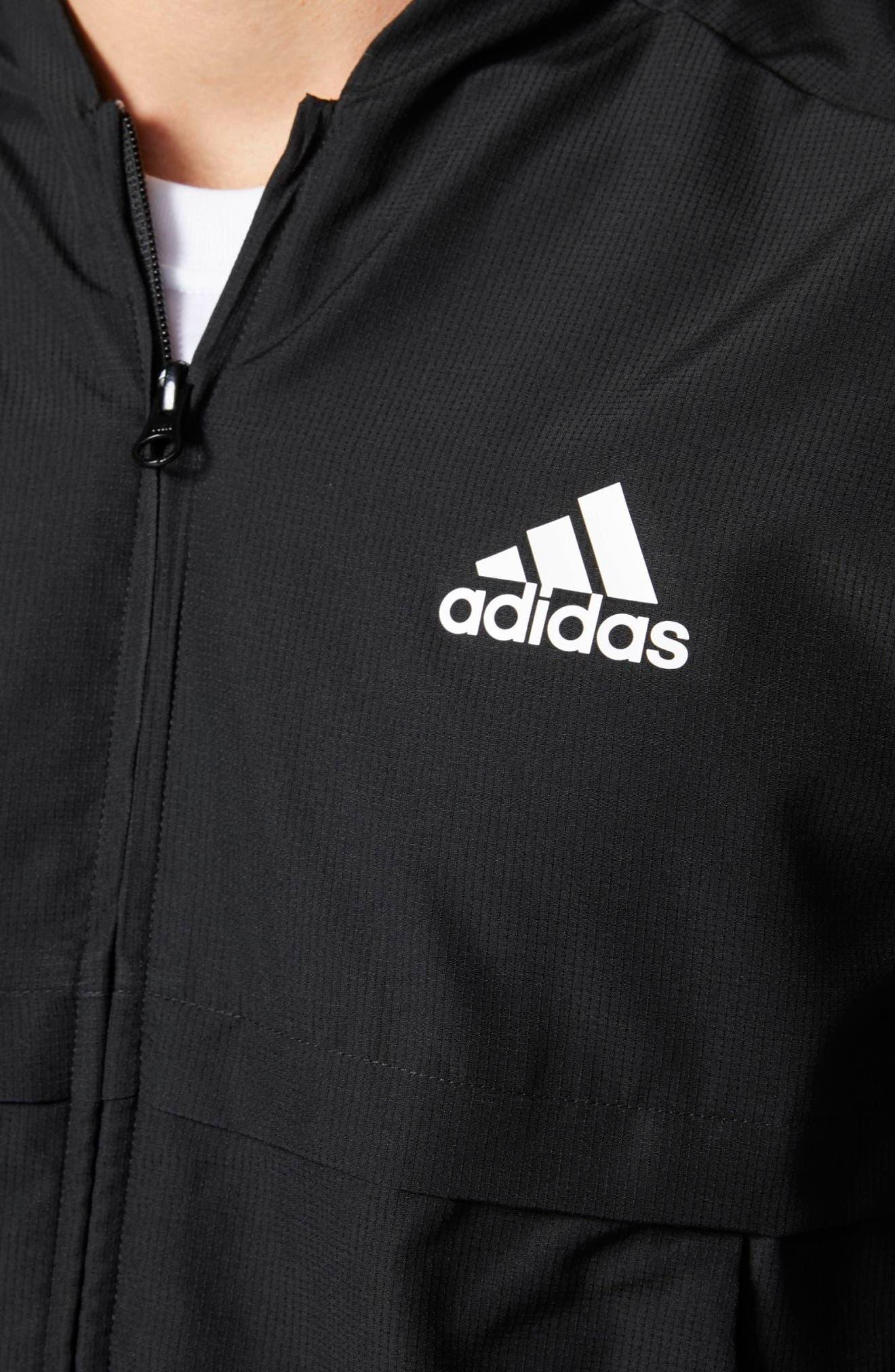 Alternate Image 4  - adidas Squad ID Woven Bomber Jacket