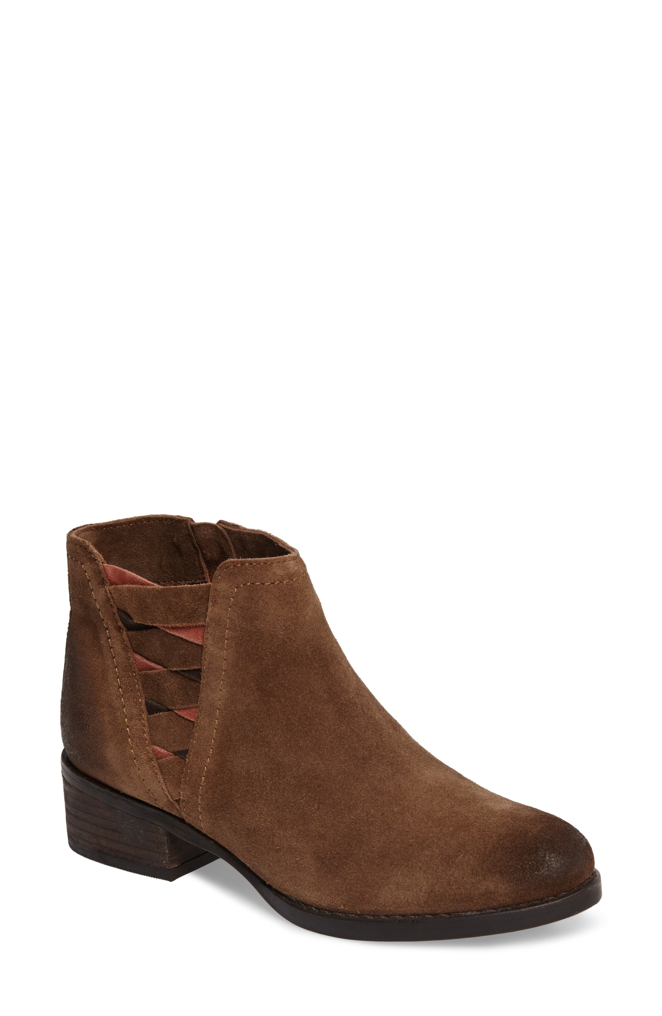 The Bridge Bootie,                         Main,                         color, Tan Suede