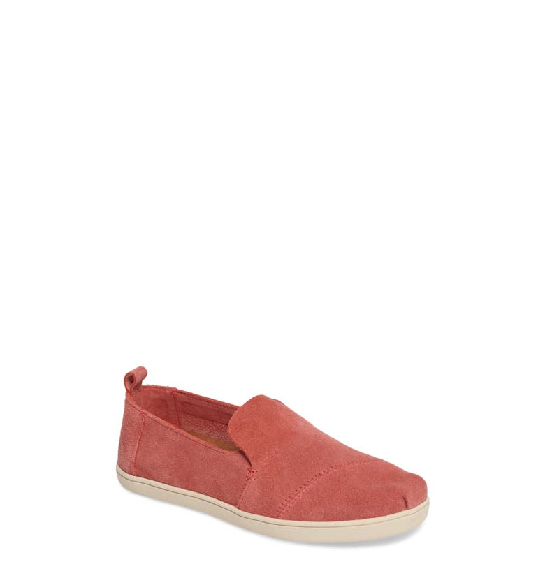 Deconstructed Alpargata Slip-On, Main, color, Faded Rose Suede