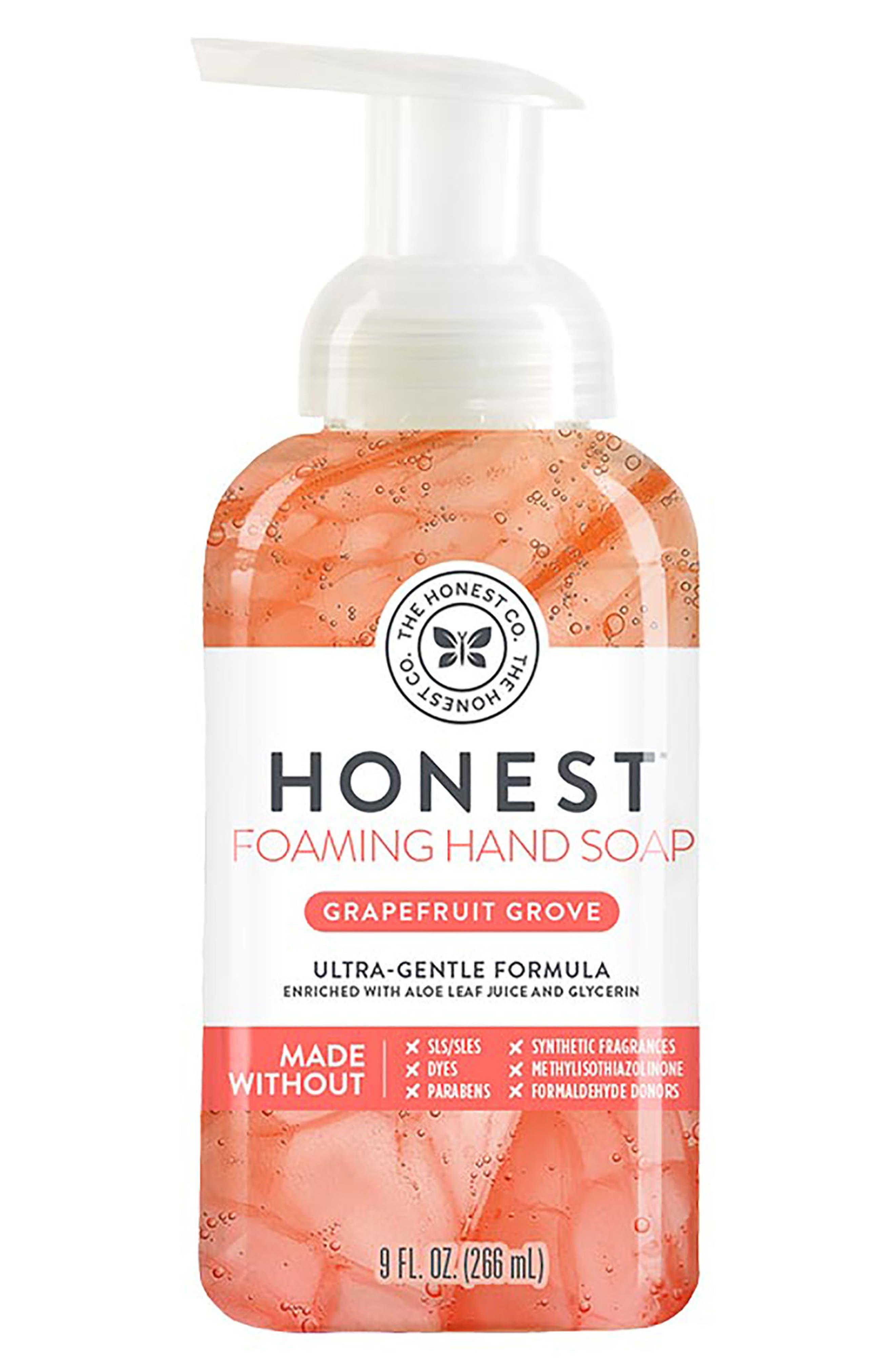 Main Image - The Honest Company Grapefruit Grove Foaming Hand Soap
