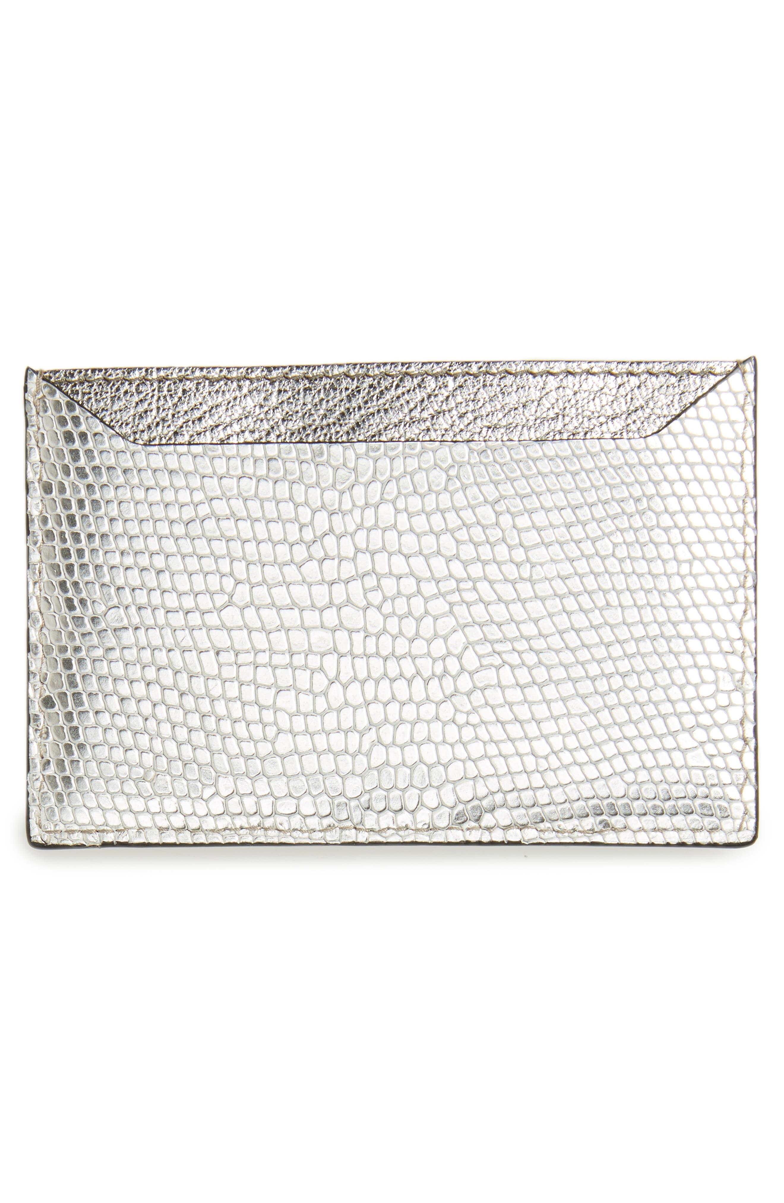 Alternate Image 2  - Miu Miu Lizard Print Leather Card Case
