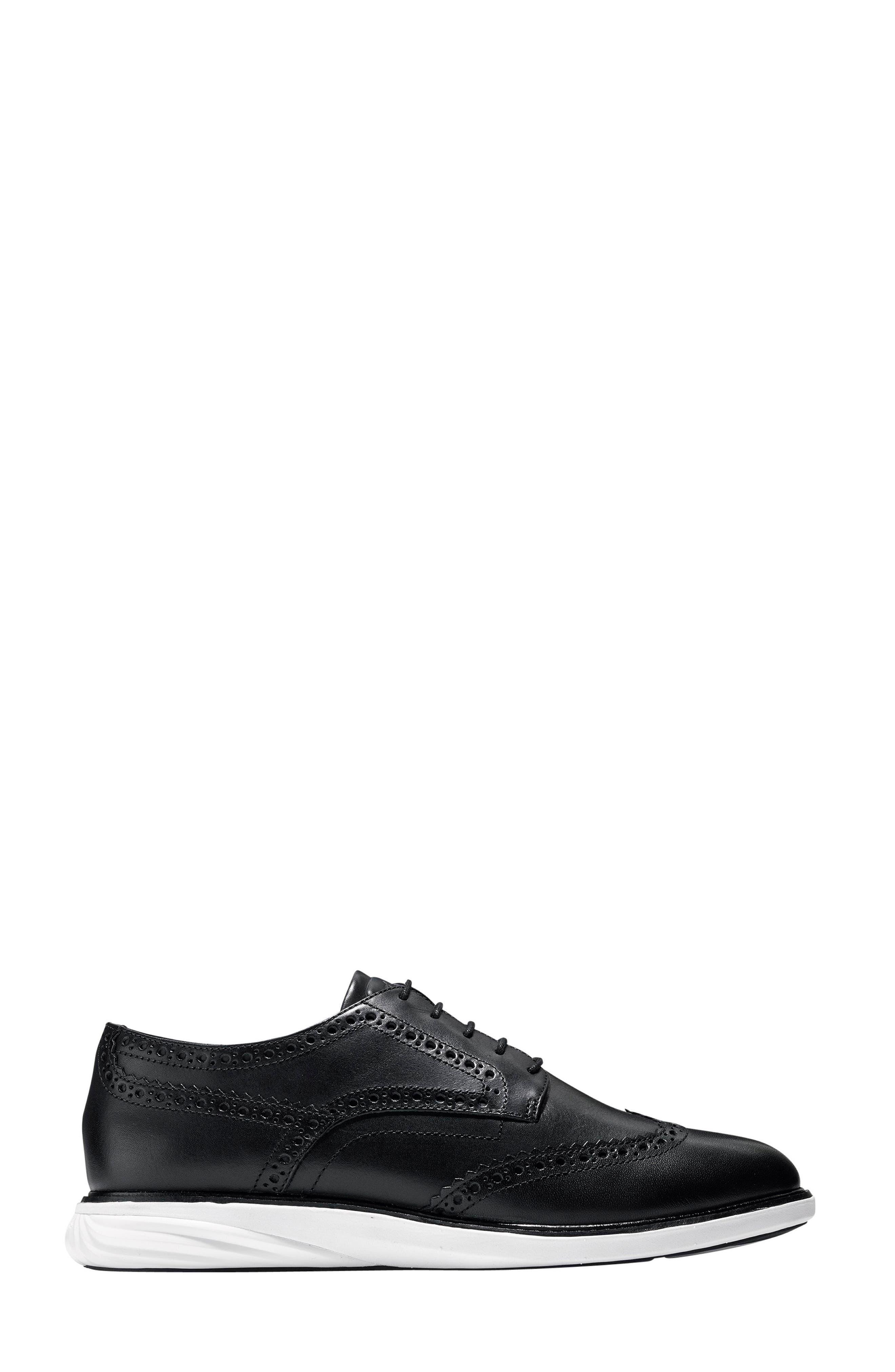 Gradevolution Oxford Sneaker,                             Alternate thumbnail 3, color,                             Black/ Optic White Leather