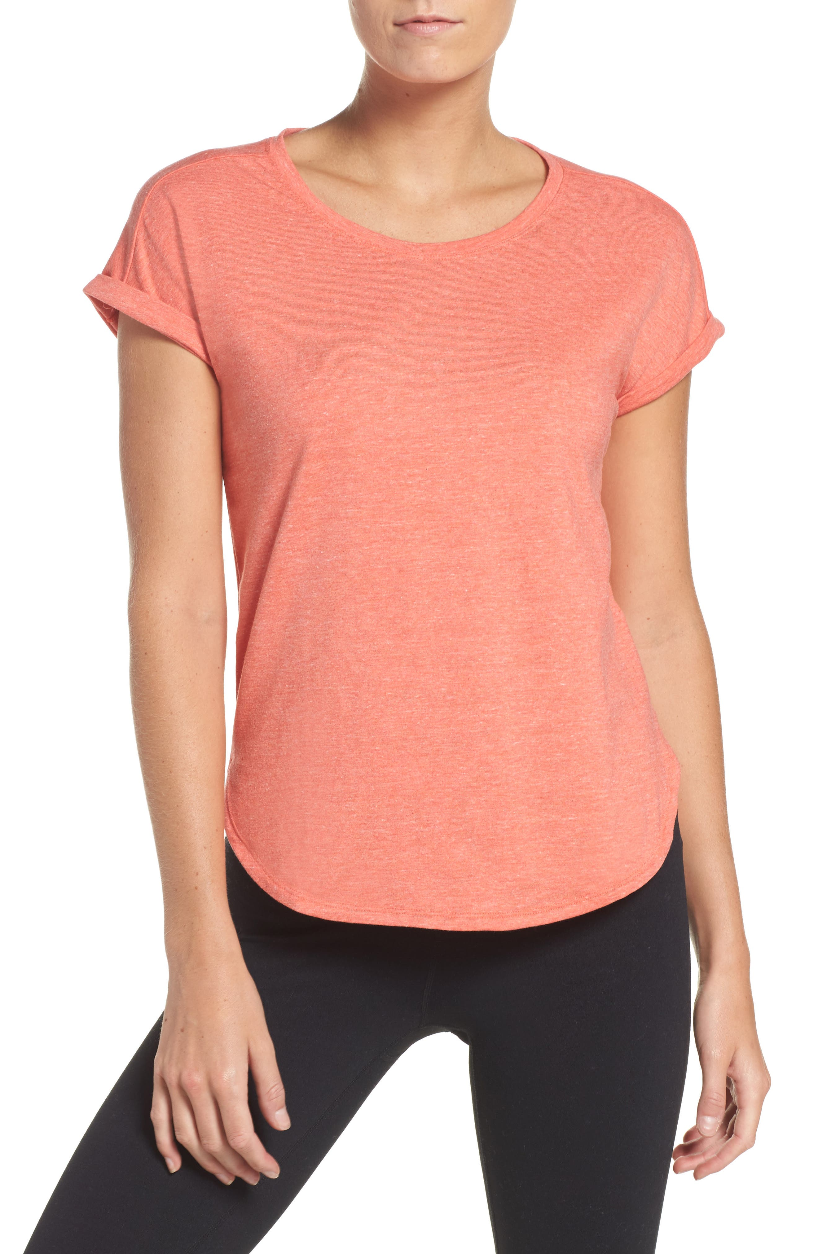 Alternate Image 1 Selected - adidas Performer High/Low Climalite® Tee