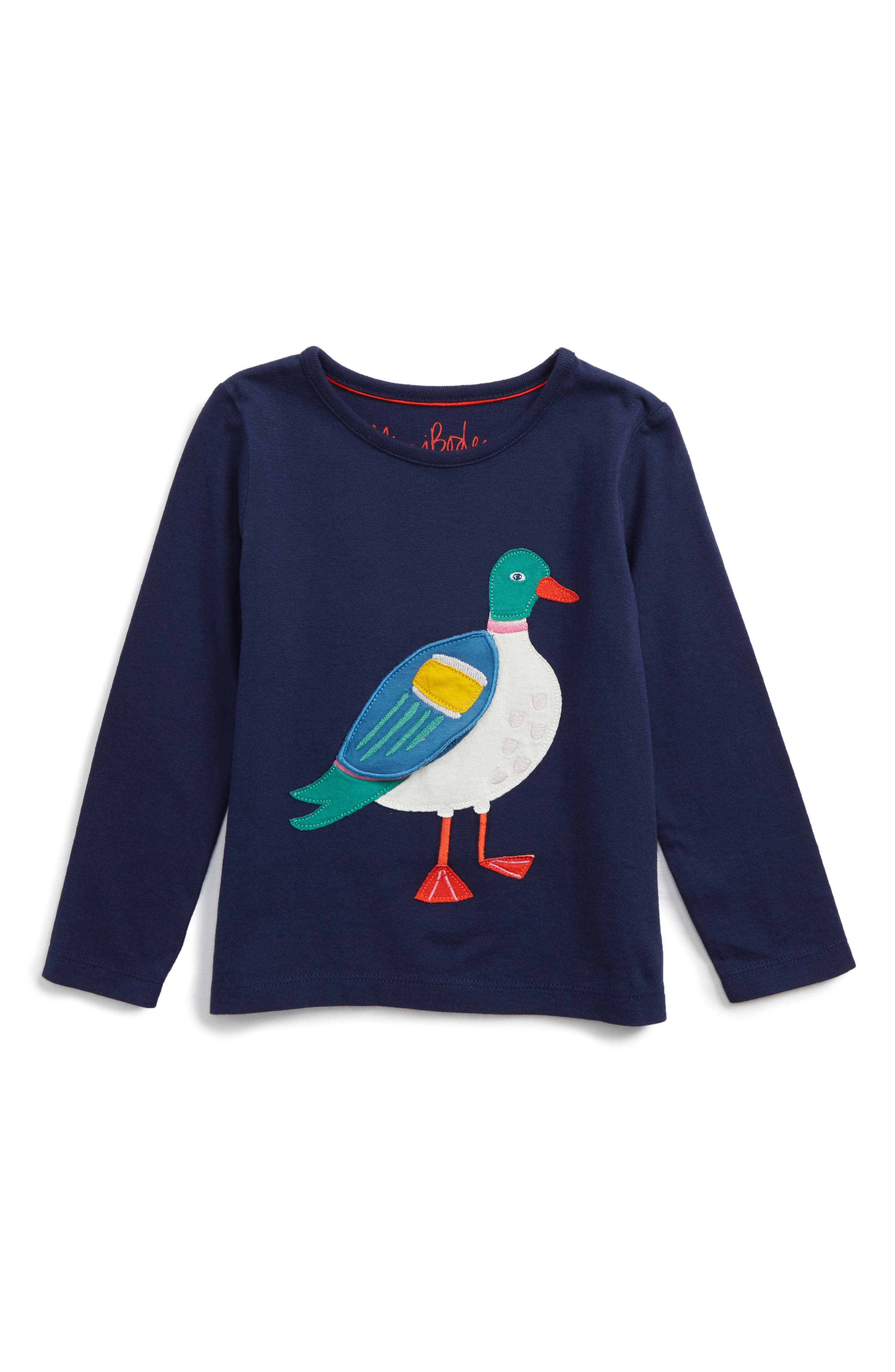 Main Image - Mini Boden River Bank Appliqué Tee (Toddler Girls, Little Girls & Big Girls)