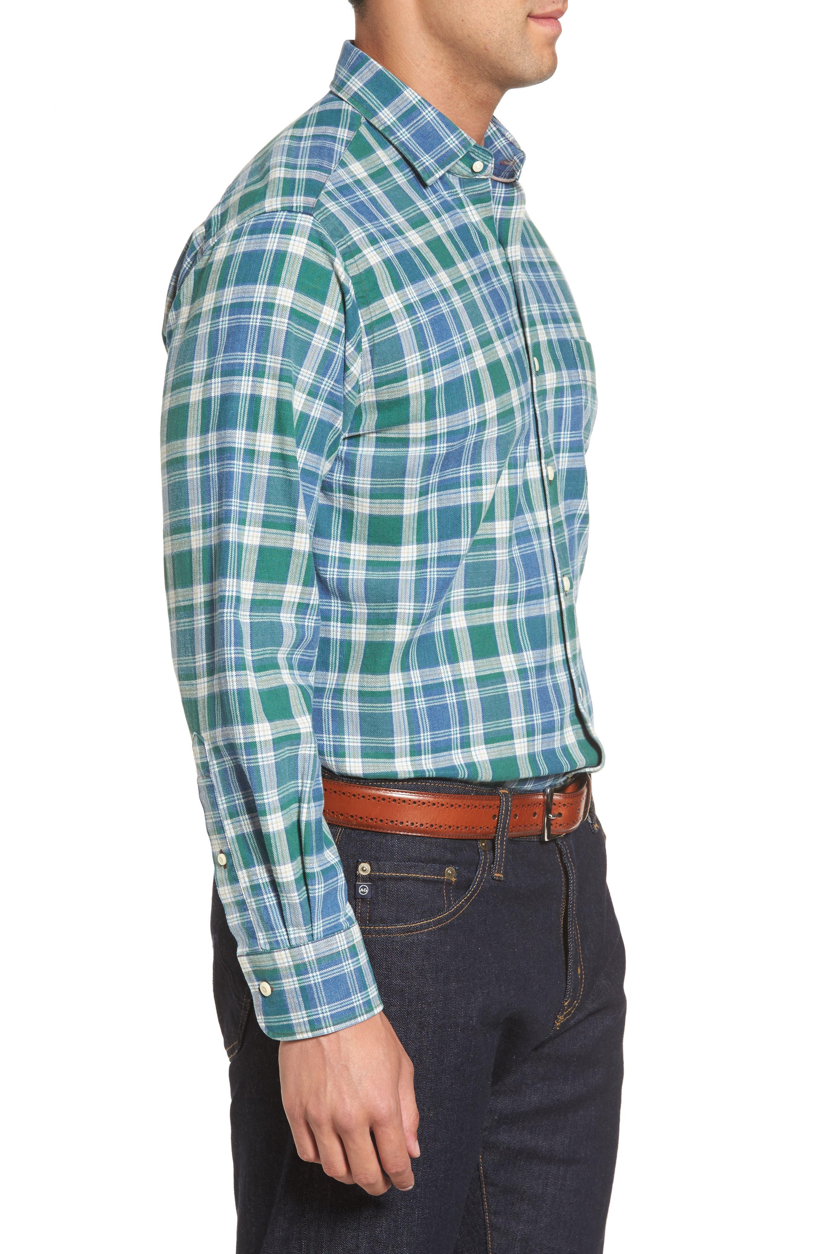 Alternate Image 3  - Peter Millar Rocky Regular Fit Plaid Sport Shirt