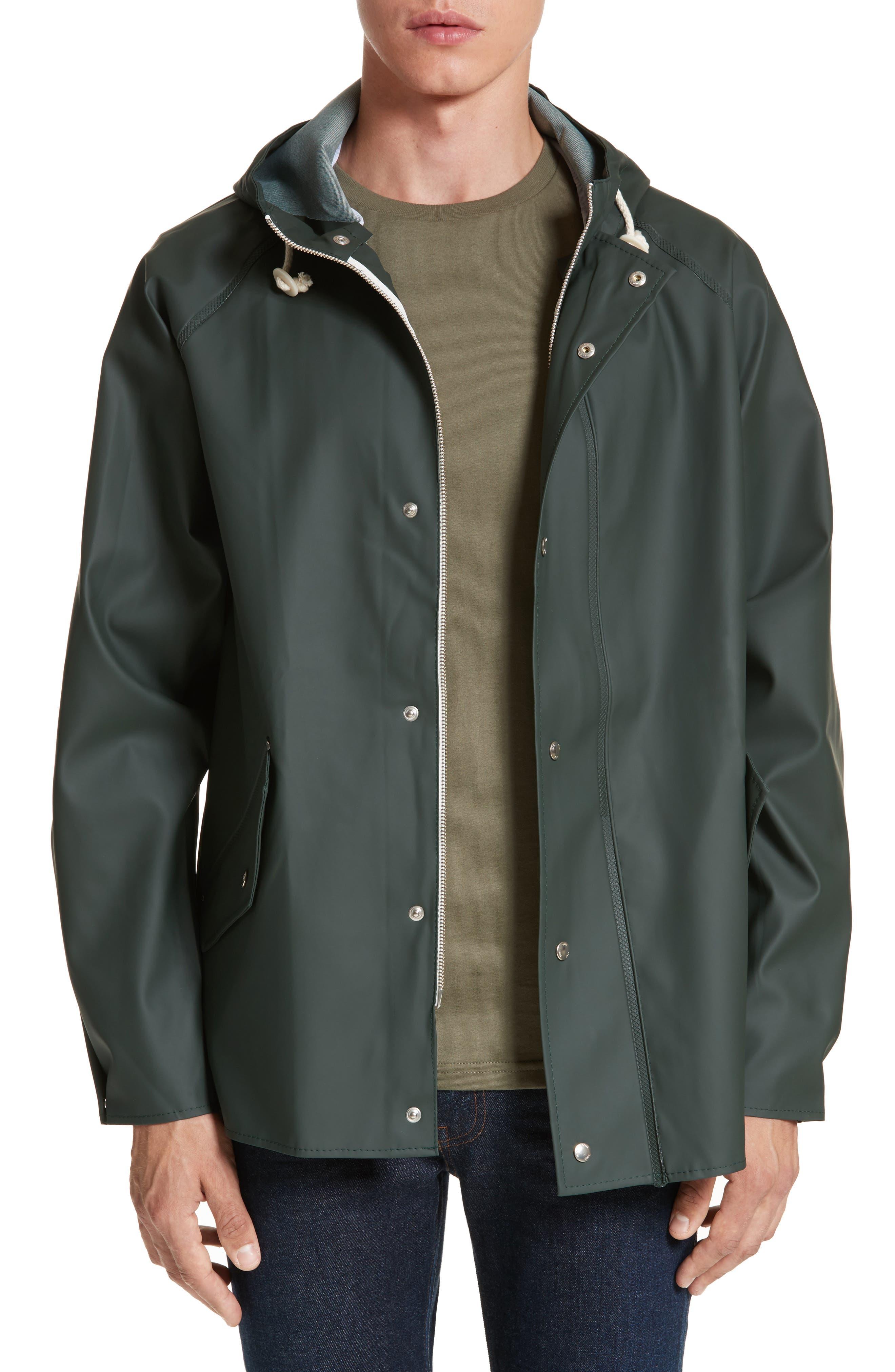Waterproof Rain Jacket,                             Main thumbnail 1, color,                             Moss