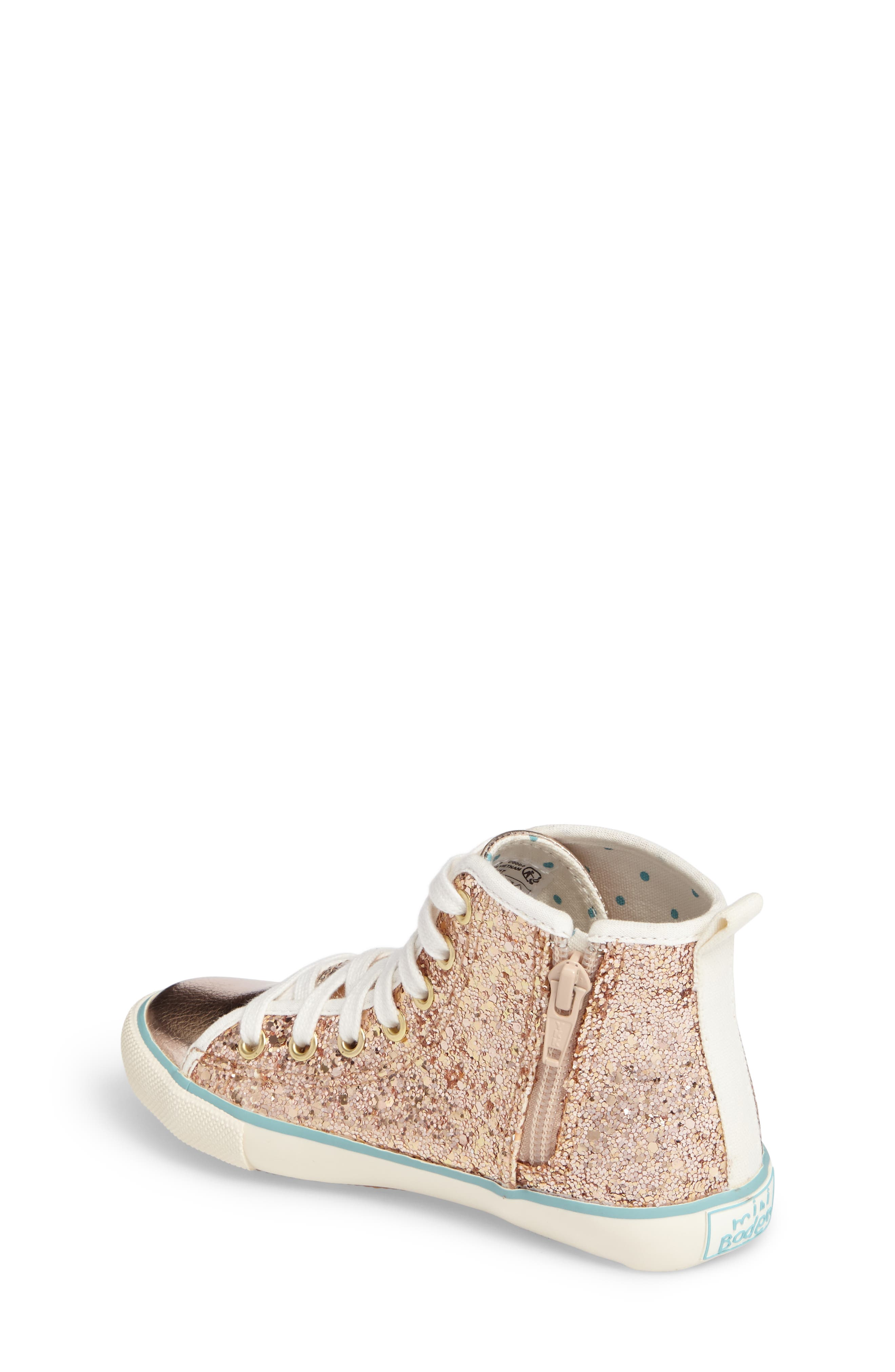 Alternate Image 2  - Mini Boden High Top Sneaker (Toddler, Little Kid & Big Kid)