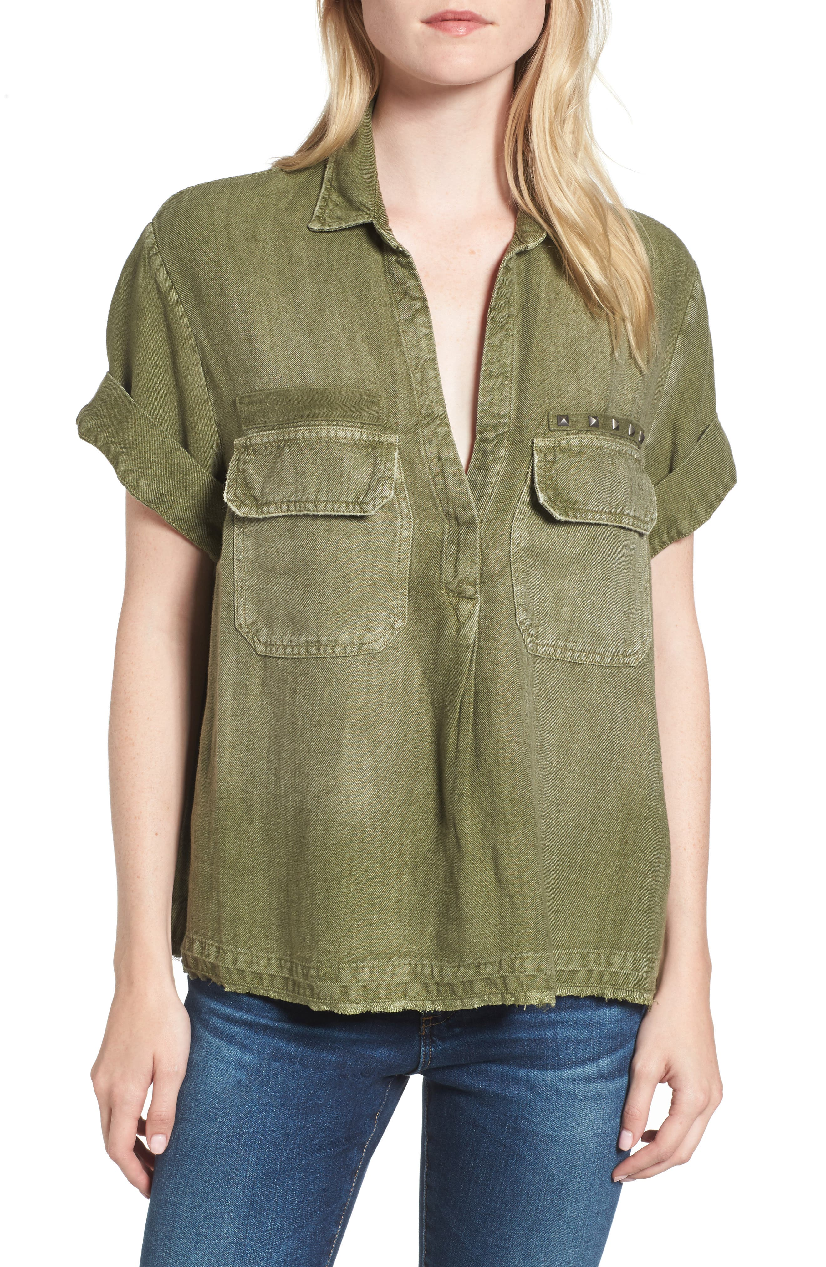 Anson Top,                         Main,                         color, Sulfur/ Climbing Ivy