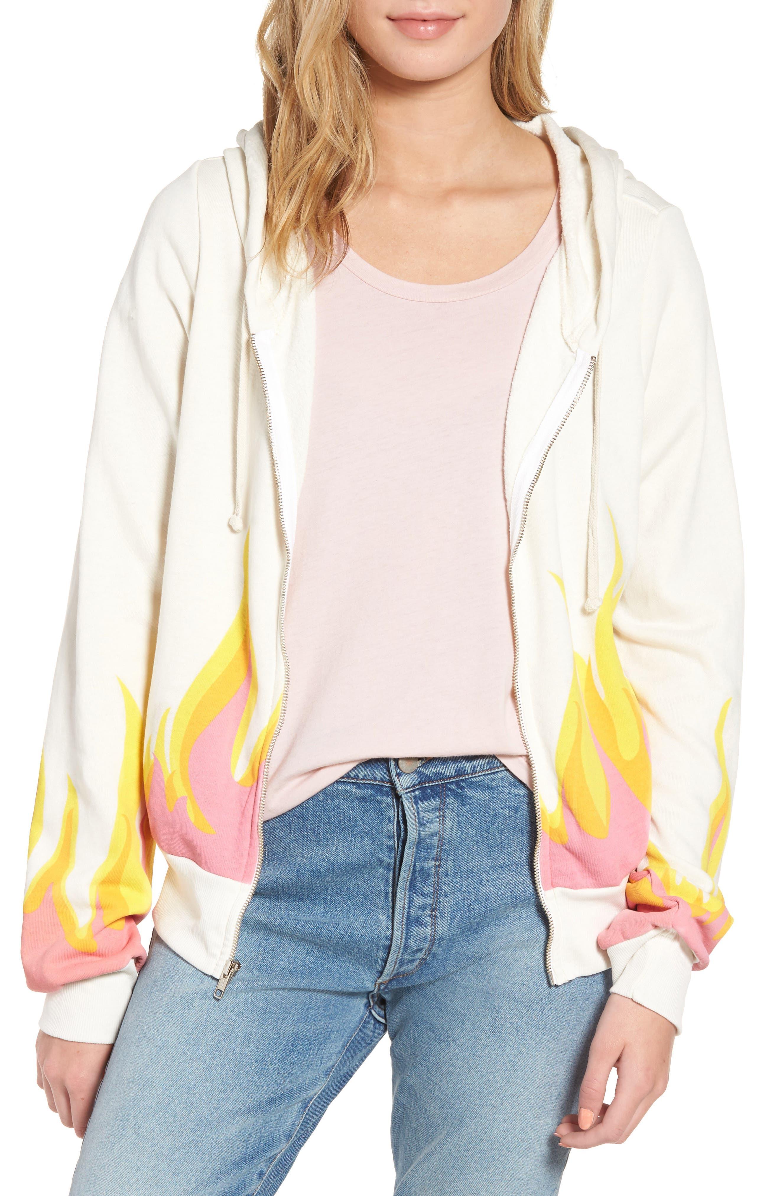 Wilfox Wildfire Prescott Zip Hoodie,                         Main,                         color, Vintage Lace