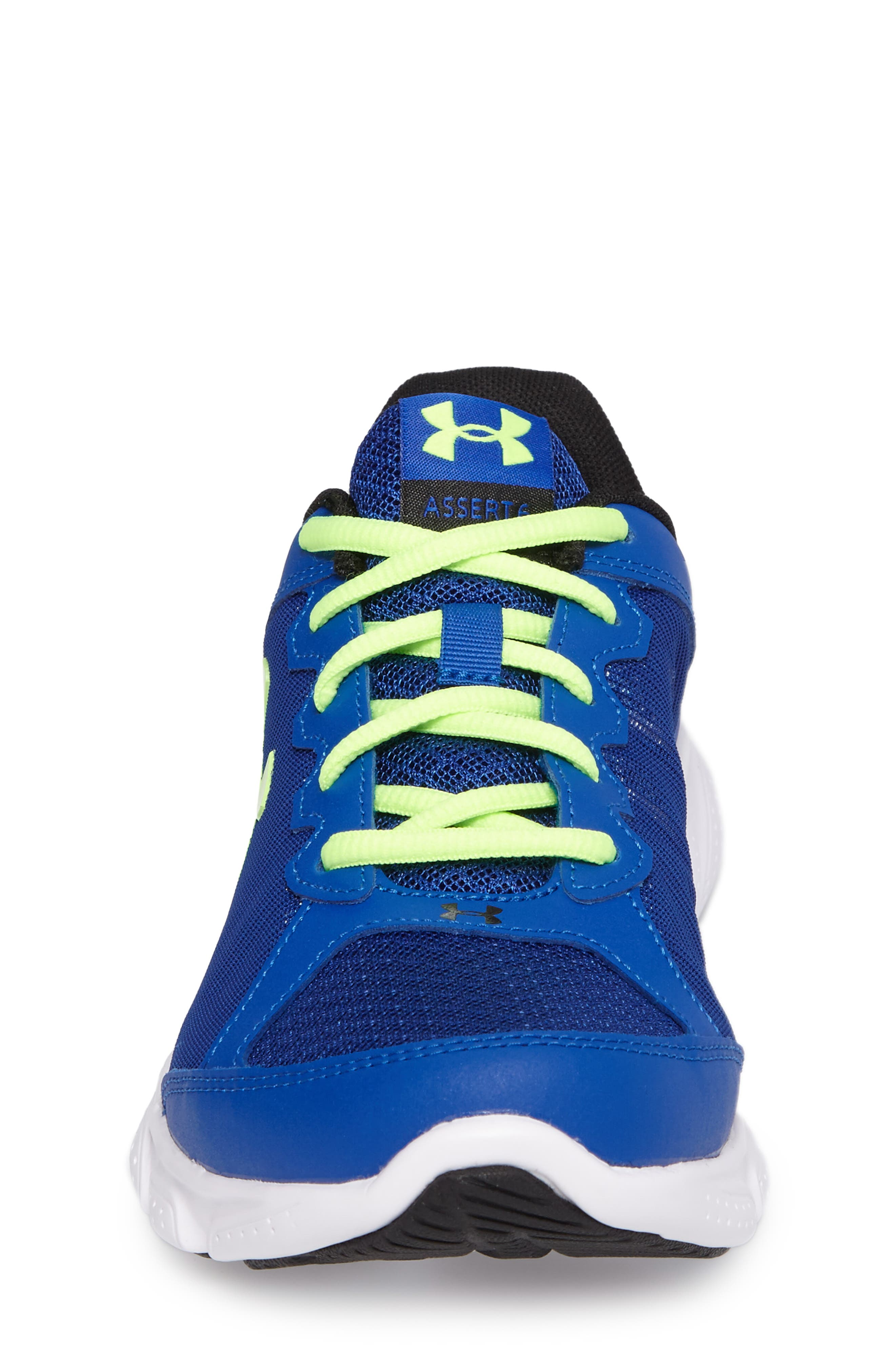 'Micro G<sup>®</sup> Assert VI' Running Shoe,                             Alternate thumbnail 4, color,                             Royal/ White/ Quirky Lime