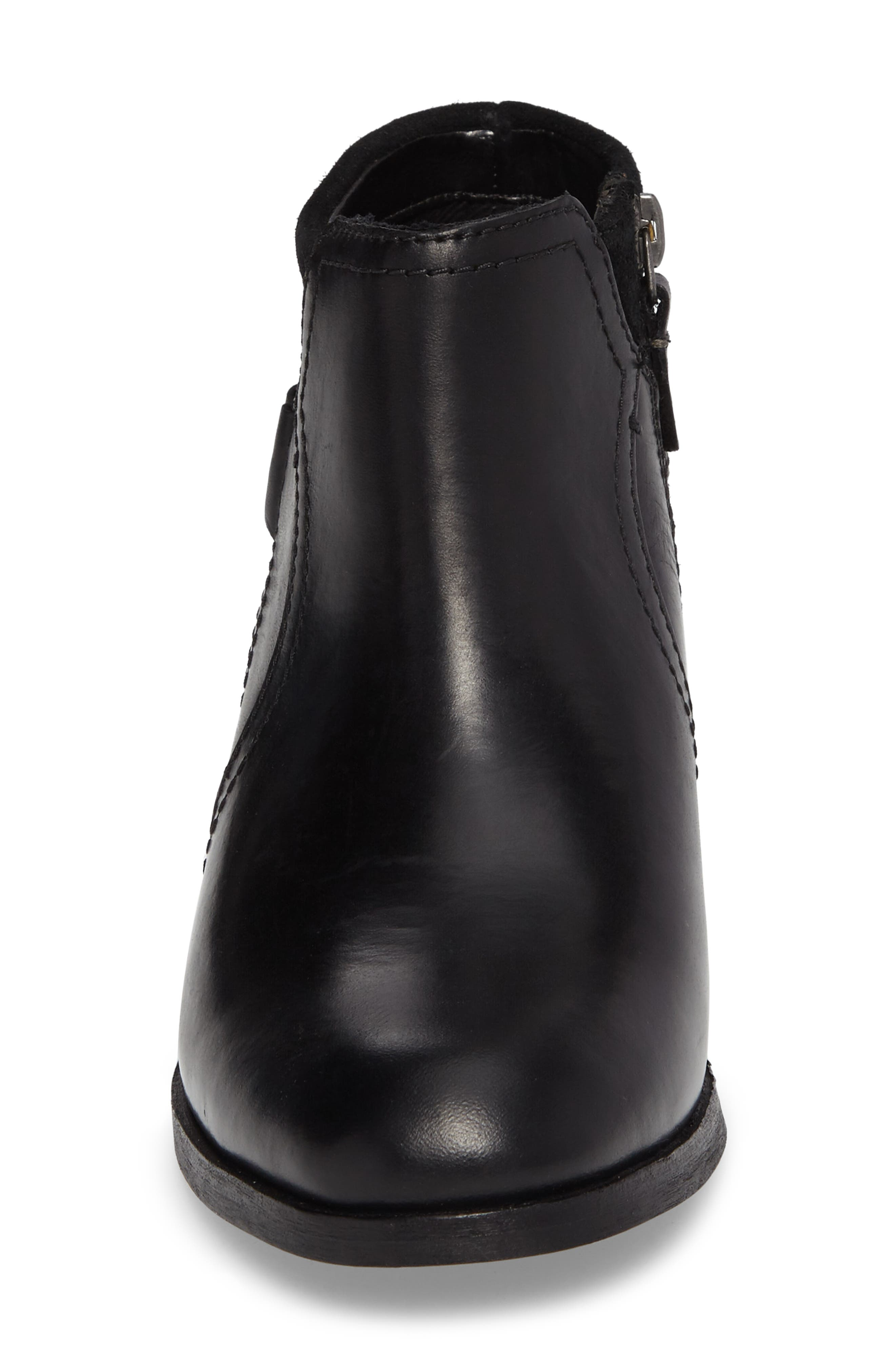Maypearl Lilac Bootie,                             Alternate thumbnail 4, color,                             Black Leather