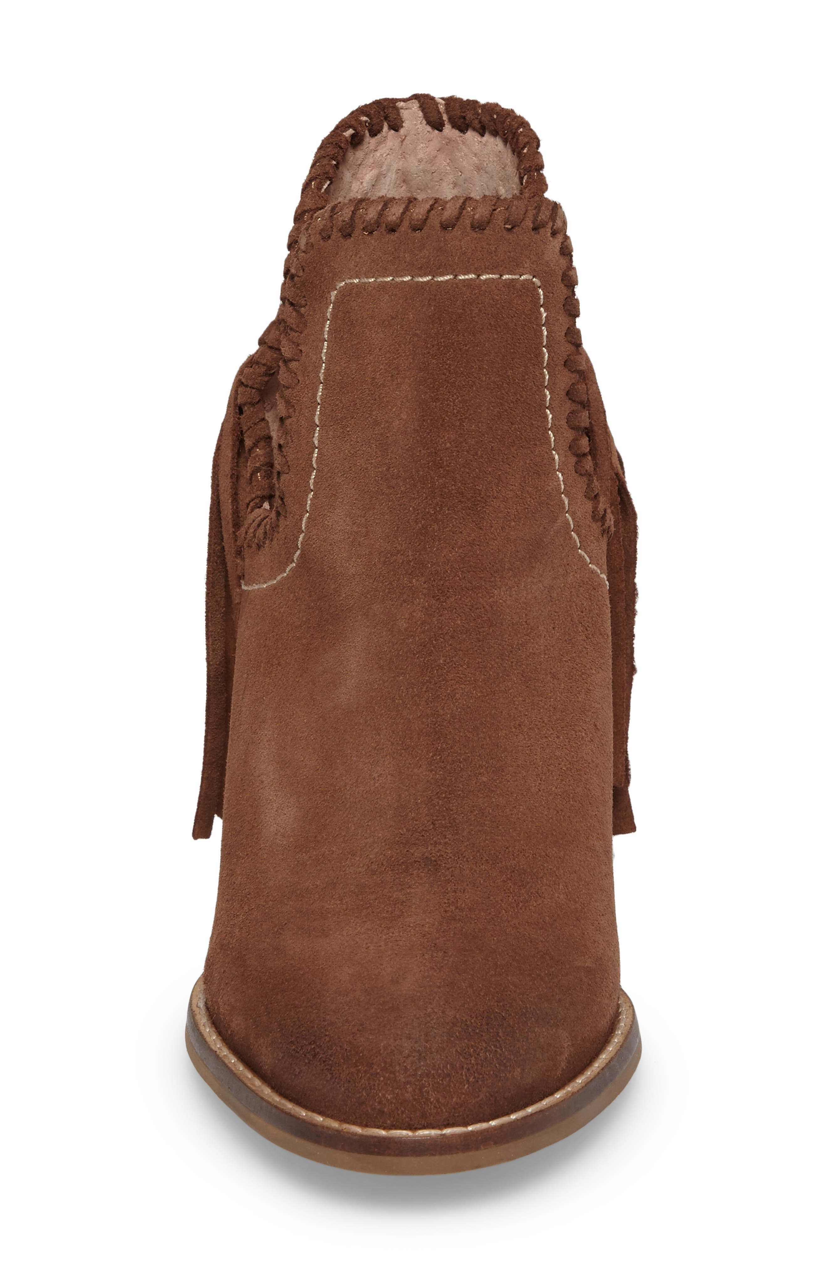 Unbridled Lily Bootie,                             Alternate thumbnail 4, color,                             Whiskey Suede