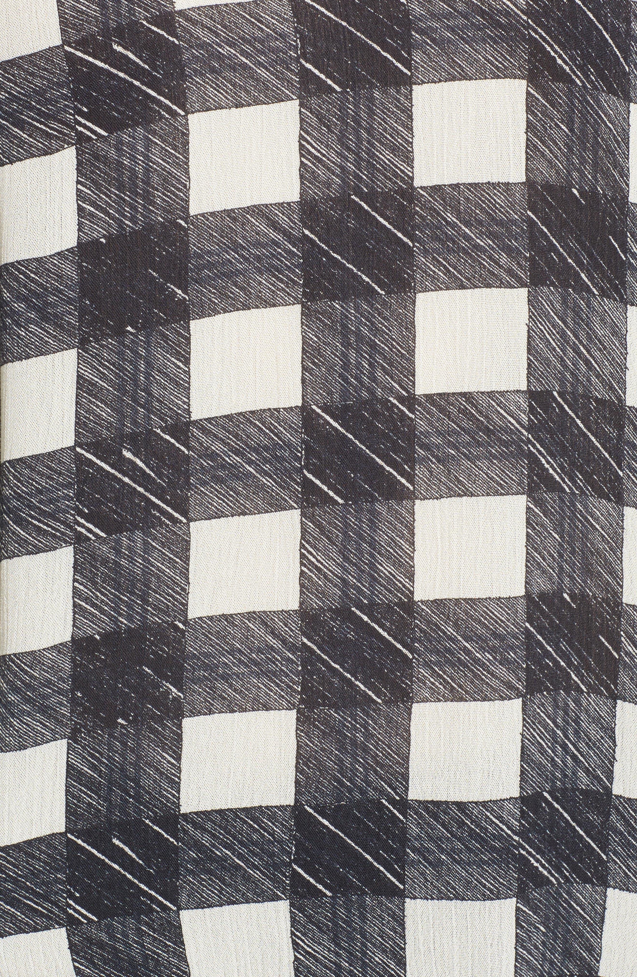 Bijou Ruffle Blouse,                             Alternate thumbnail 5, color,                             True Black/ Moon Glade