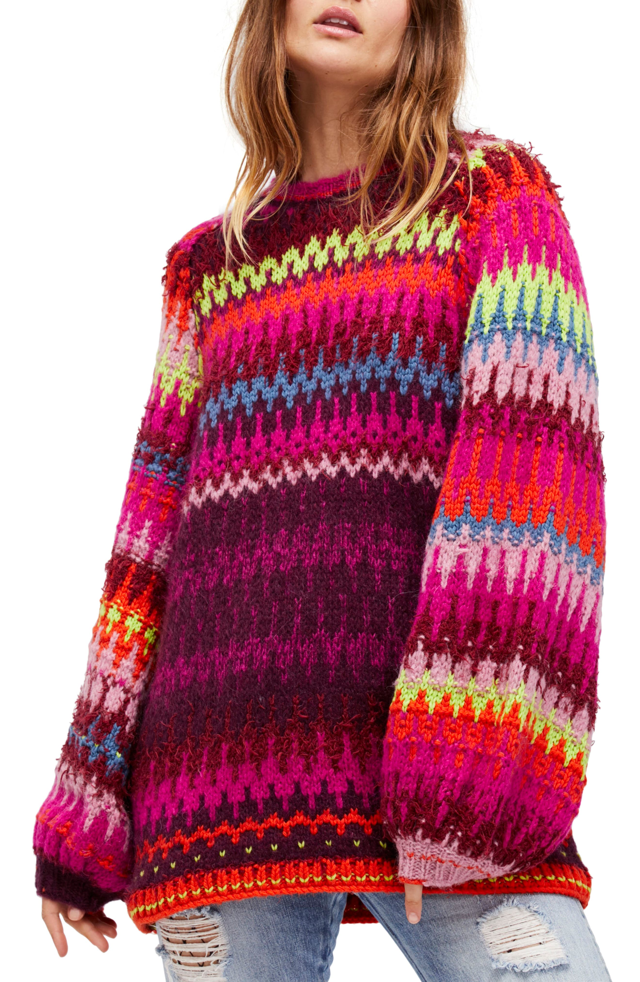 Castles in the Sky Sweater,                             Main thumbnail 1, color,                             Multi