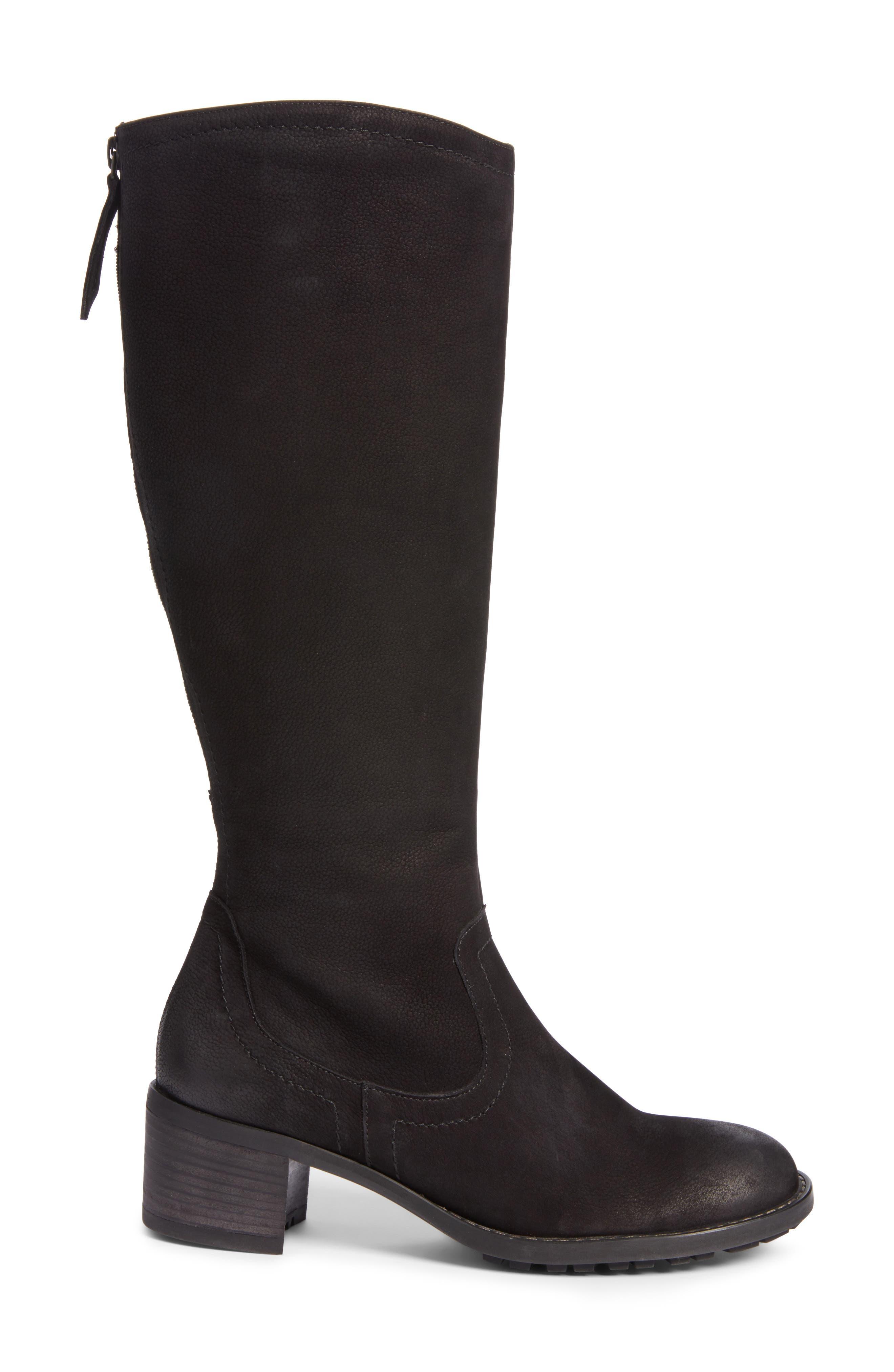 Kendal Boot,                             Alternate thumbnail 3, color,                             Black Nubuck Leather