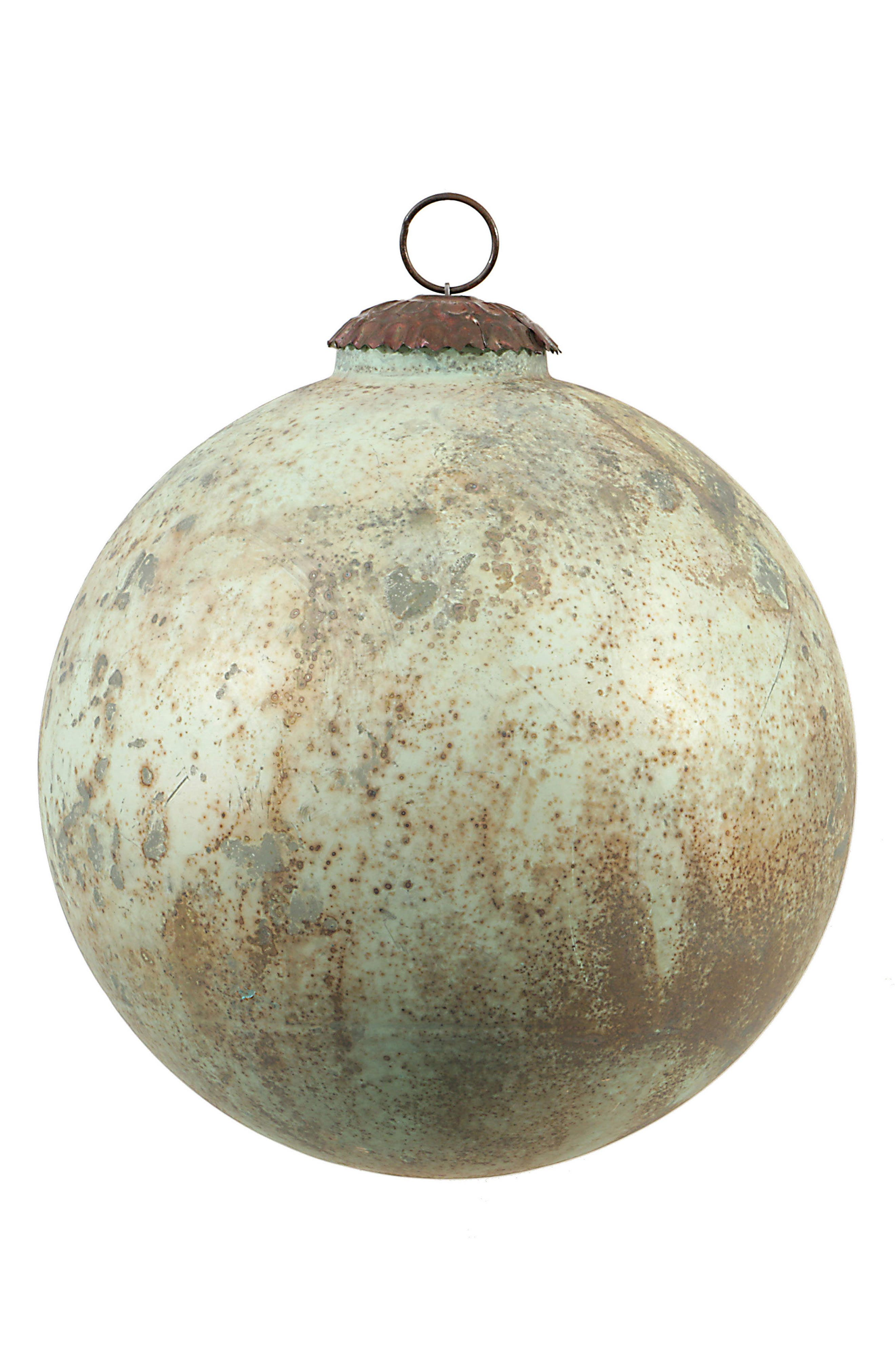 Marbled Mercury Glass Ball Ornament,                         Main,                         color, Blue