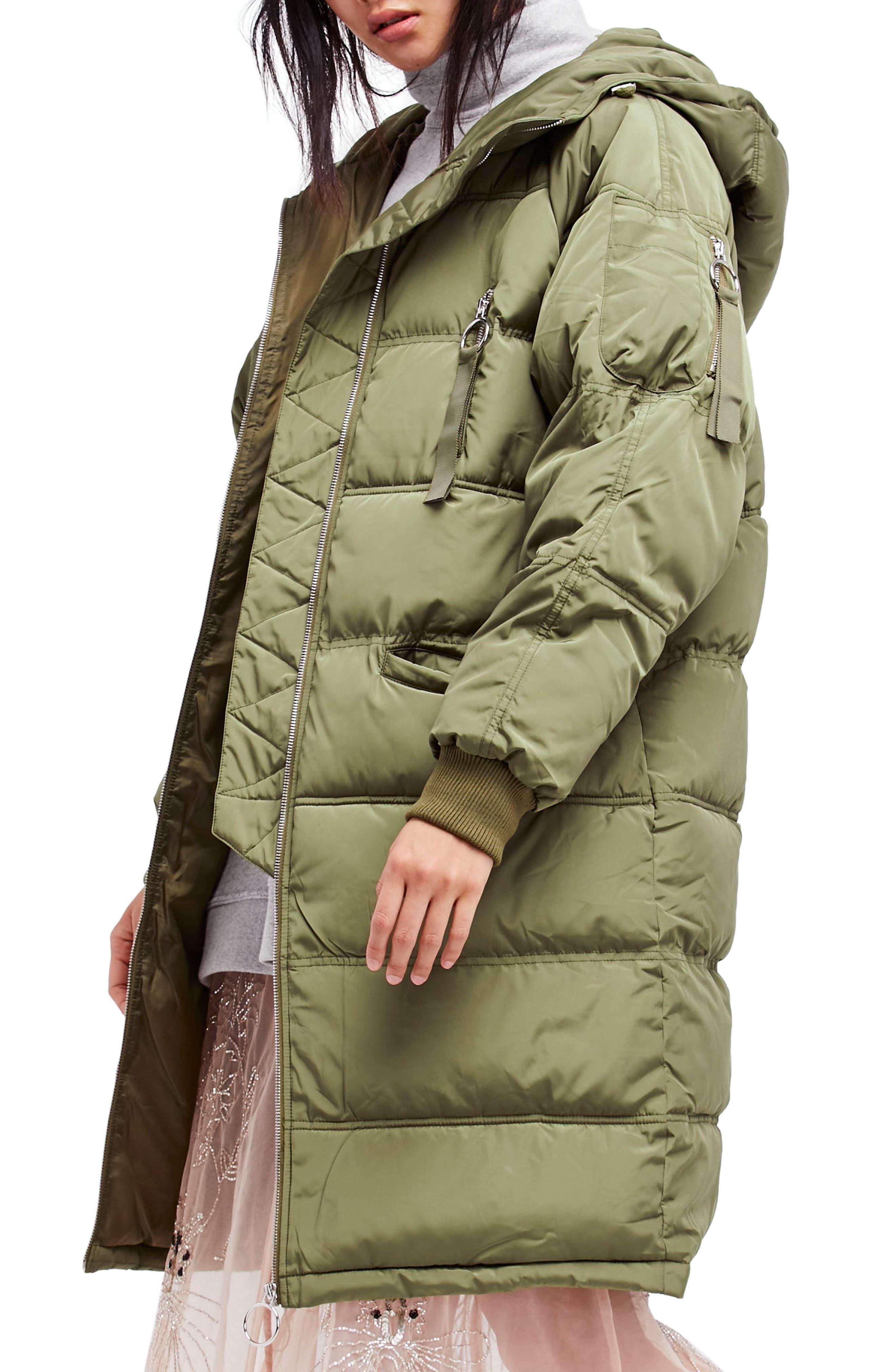 Free People Raglan Long Puffer Coat