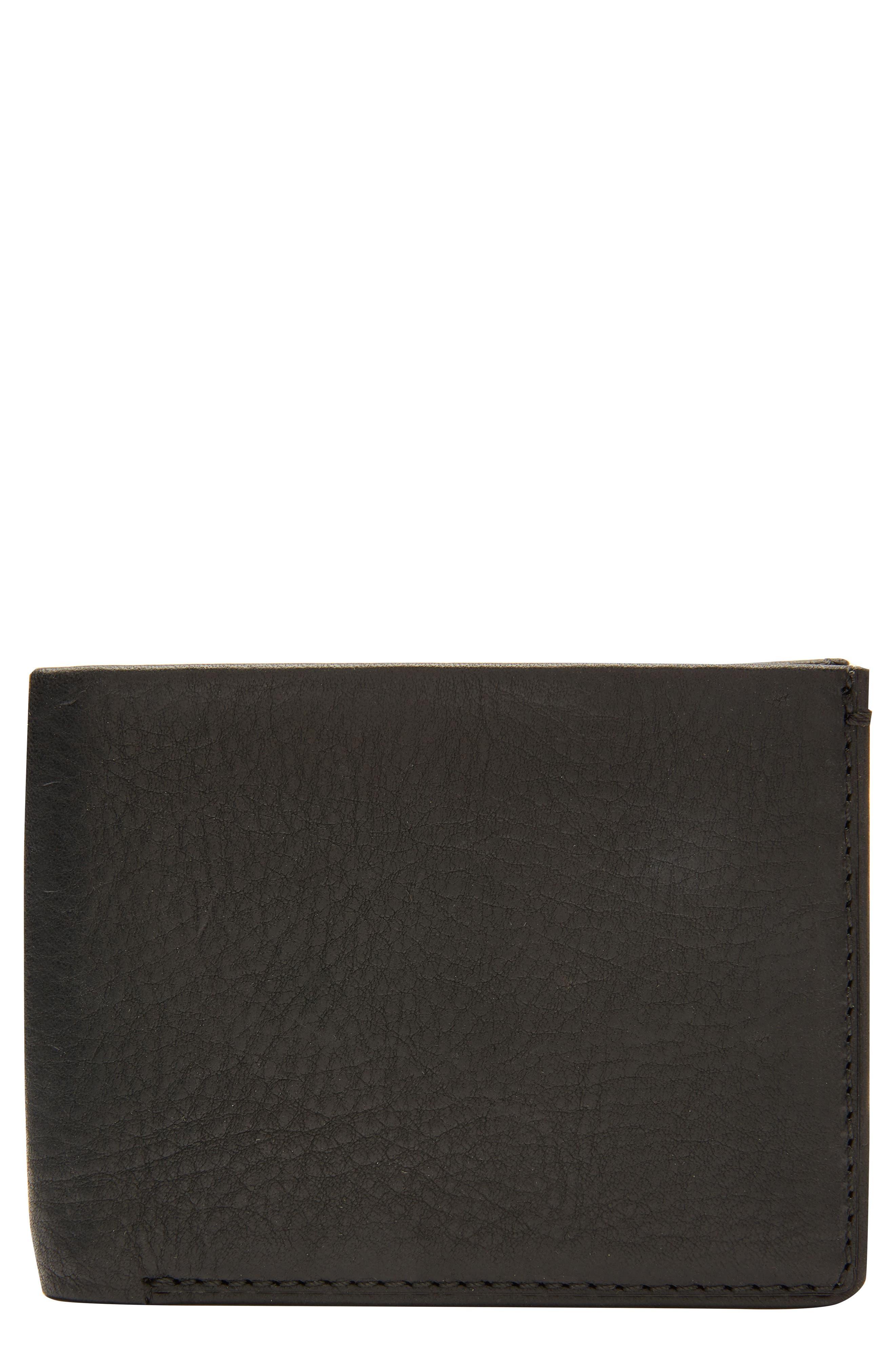 Selvedge Denim Wallet,                             Main thumbnail 1, color,                             Black