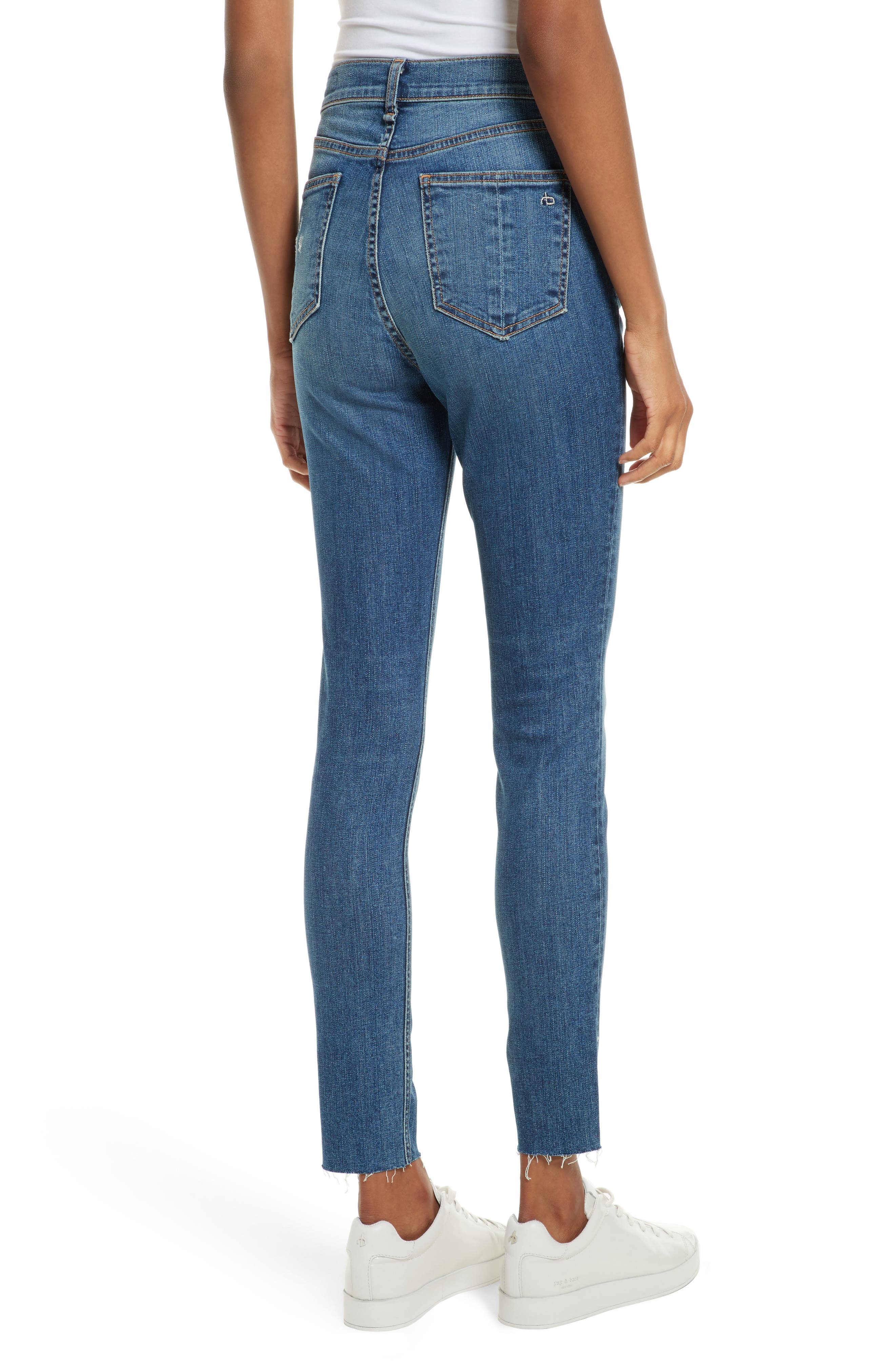 Alternate Image 2  - rag & bone/JEAN High Waist Skinny Jeans (El)