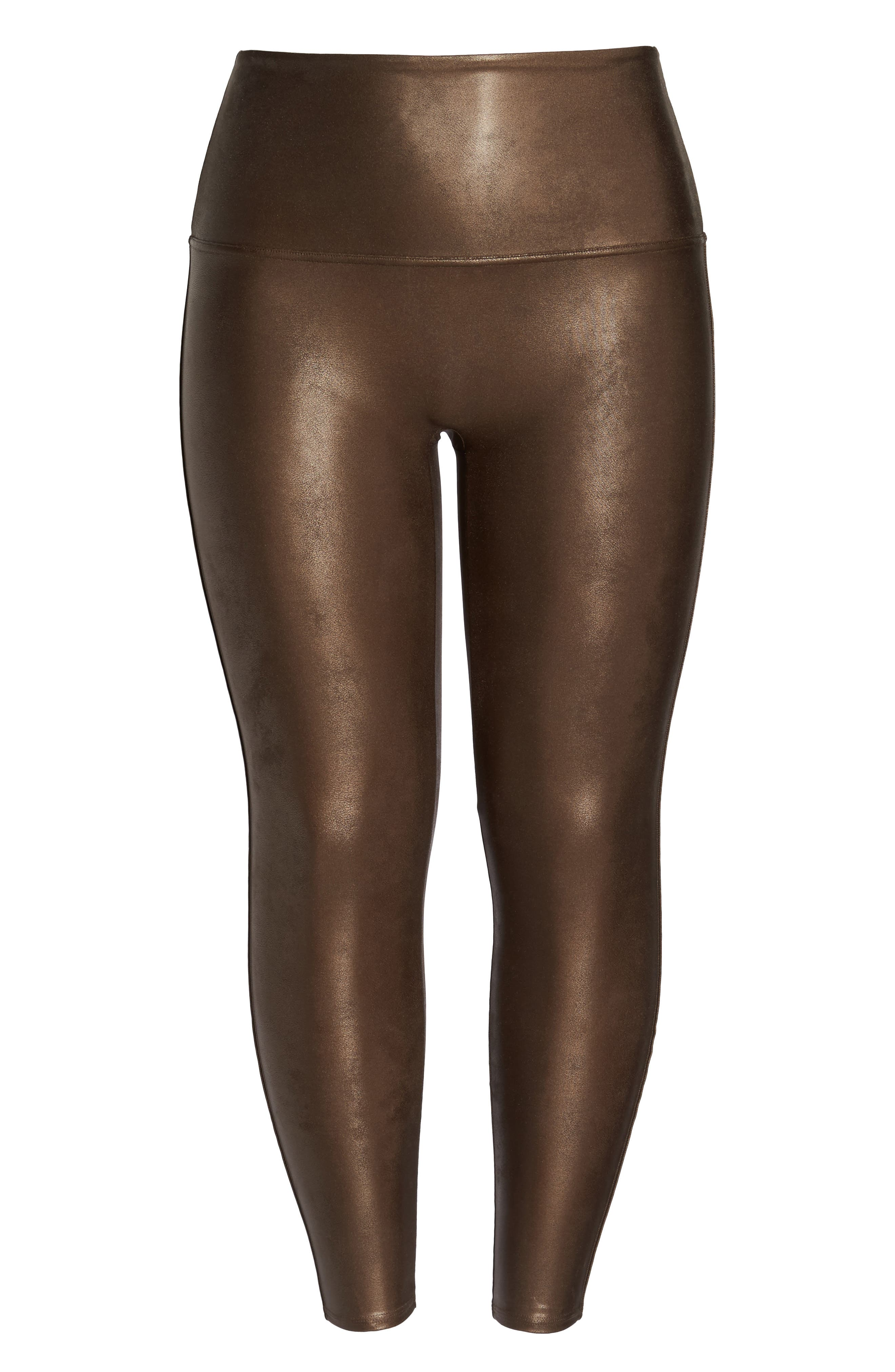 Alternate Image 5  - SPANX® Faux Leather Leggings (Plus Size)