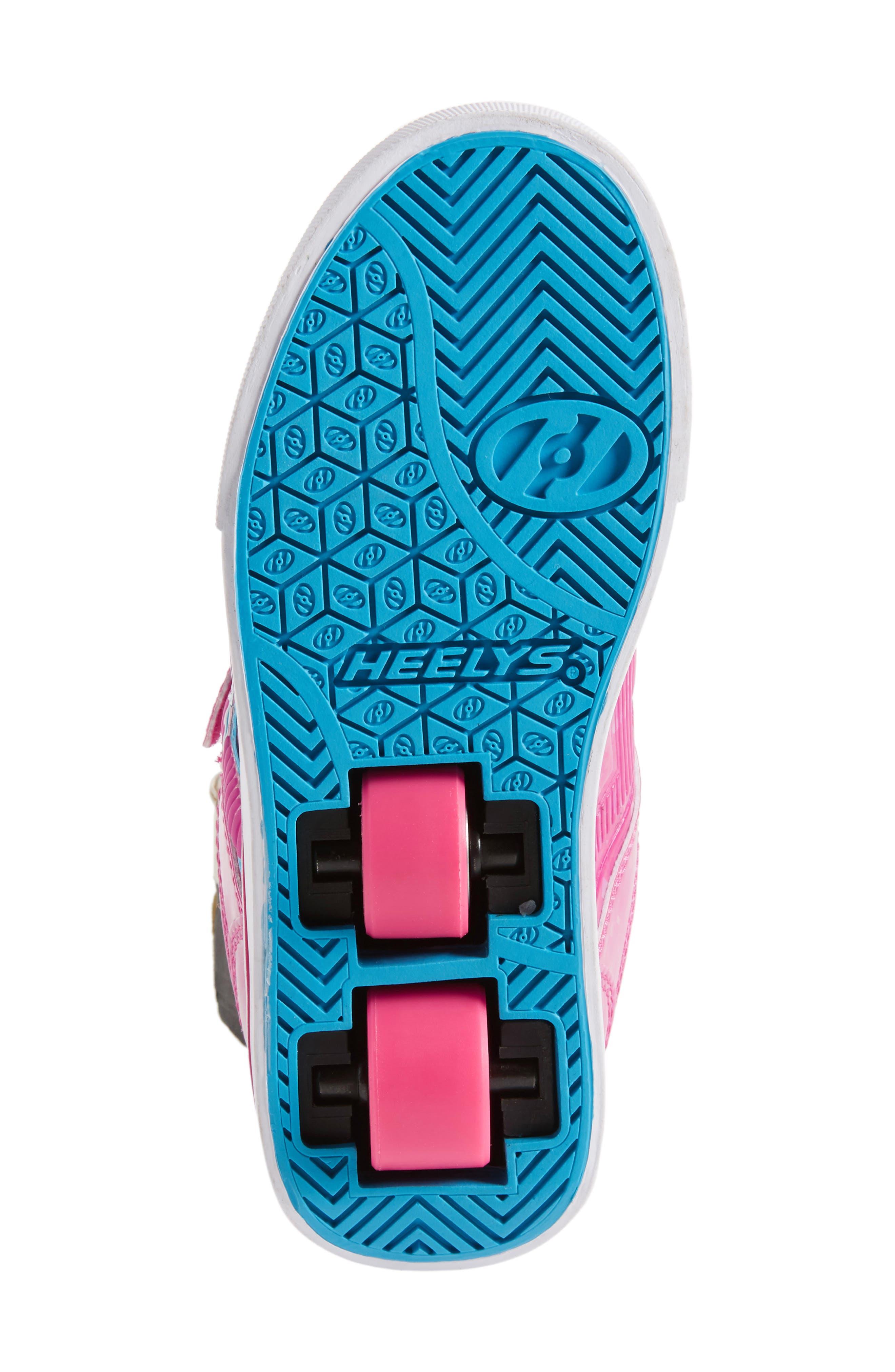 Bolt Plus X2 Light-Up Skate Sneaker,                             Alternate thumbnail 6, color,                             Hot Pink Hologram/ Neon Blue