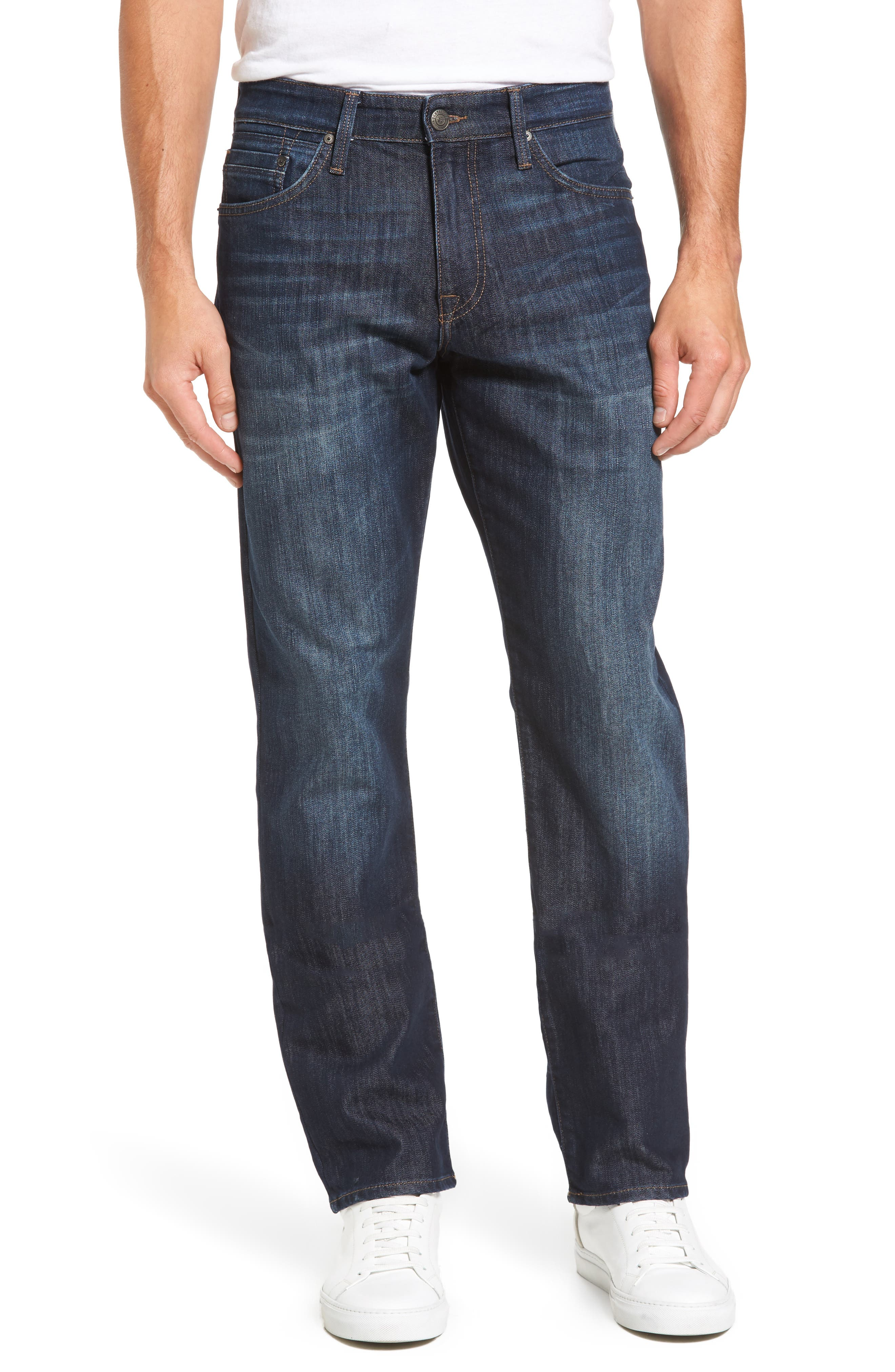 Matt Relaxed Fit Jeans,                         Main,                         color, Dark Stanford