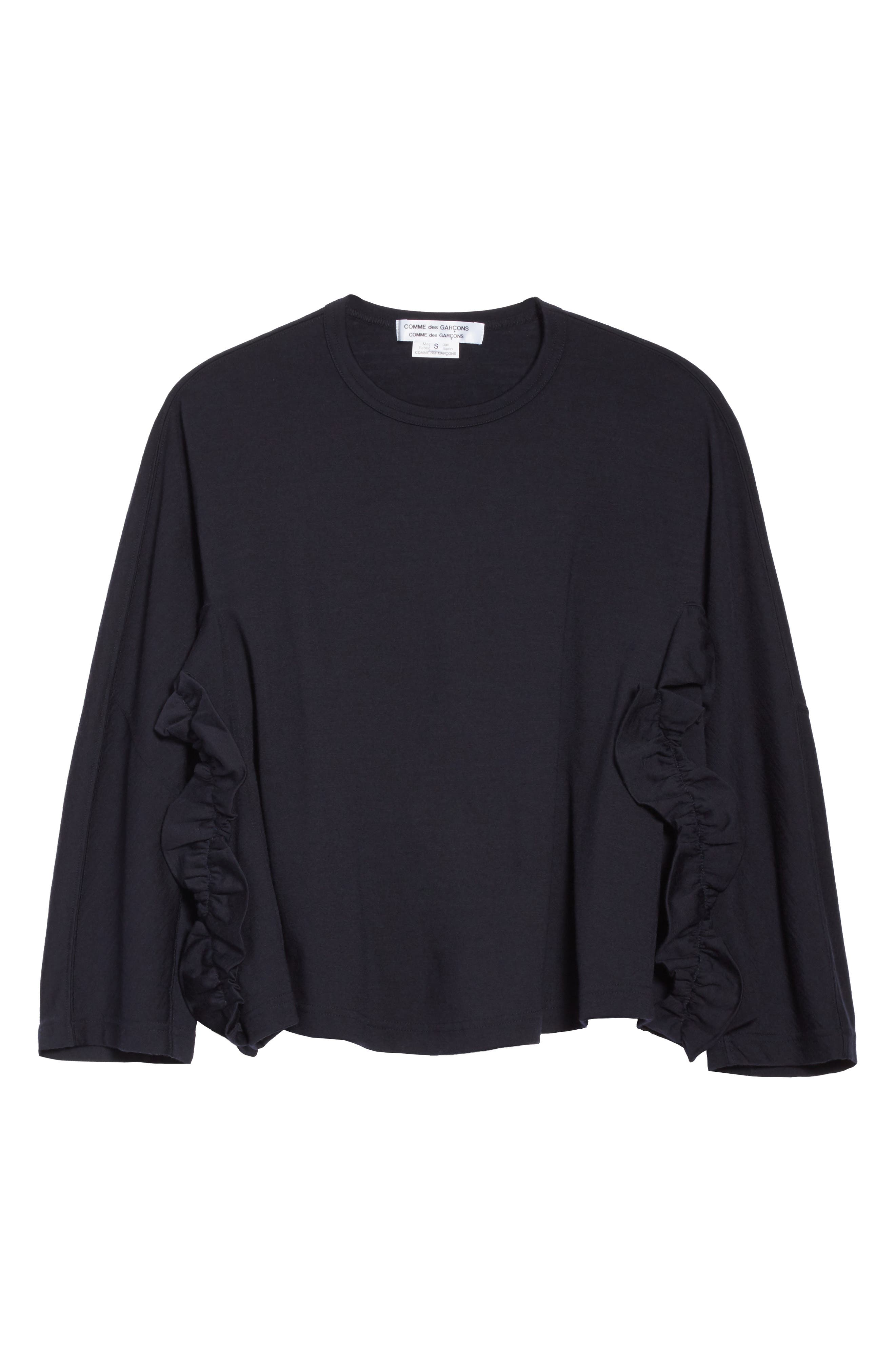 Alternate Image 6  - Comme des Garçons Ruffle Side Wool Pullover