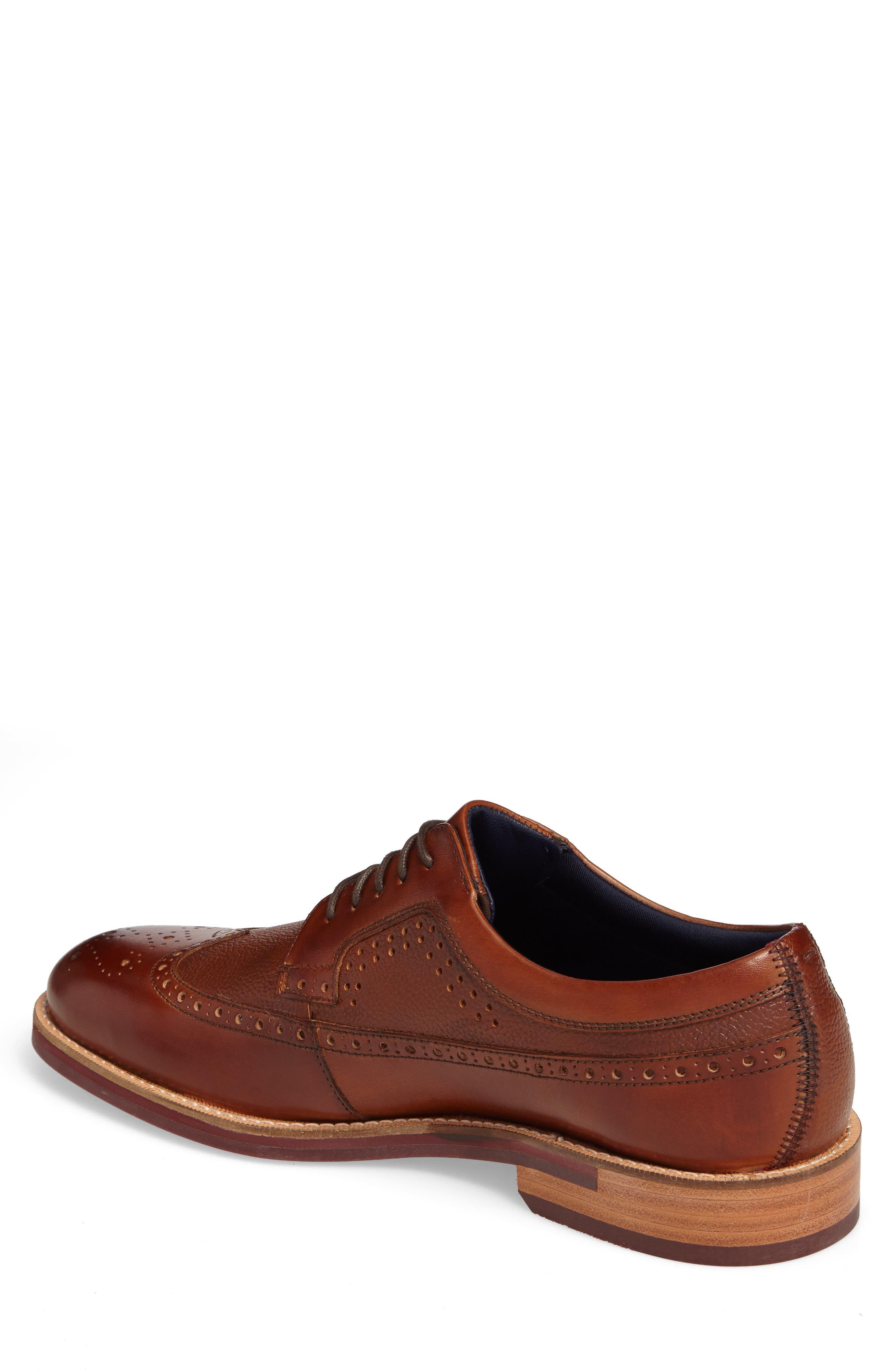 Deelani Longwing Derby,                             Alternate thumbnail 2, color,                             Tan Leather