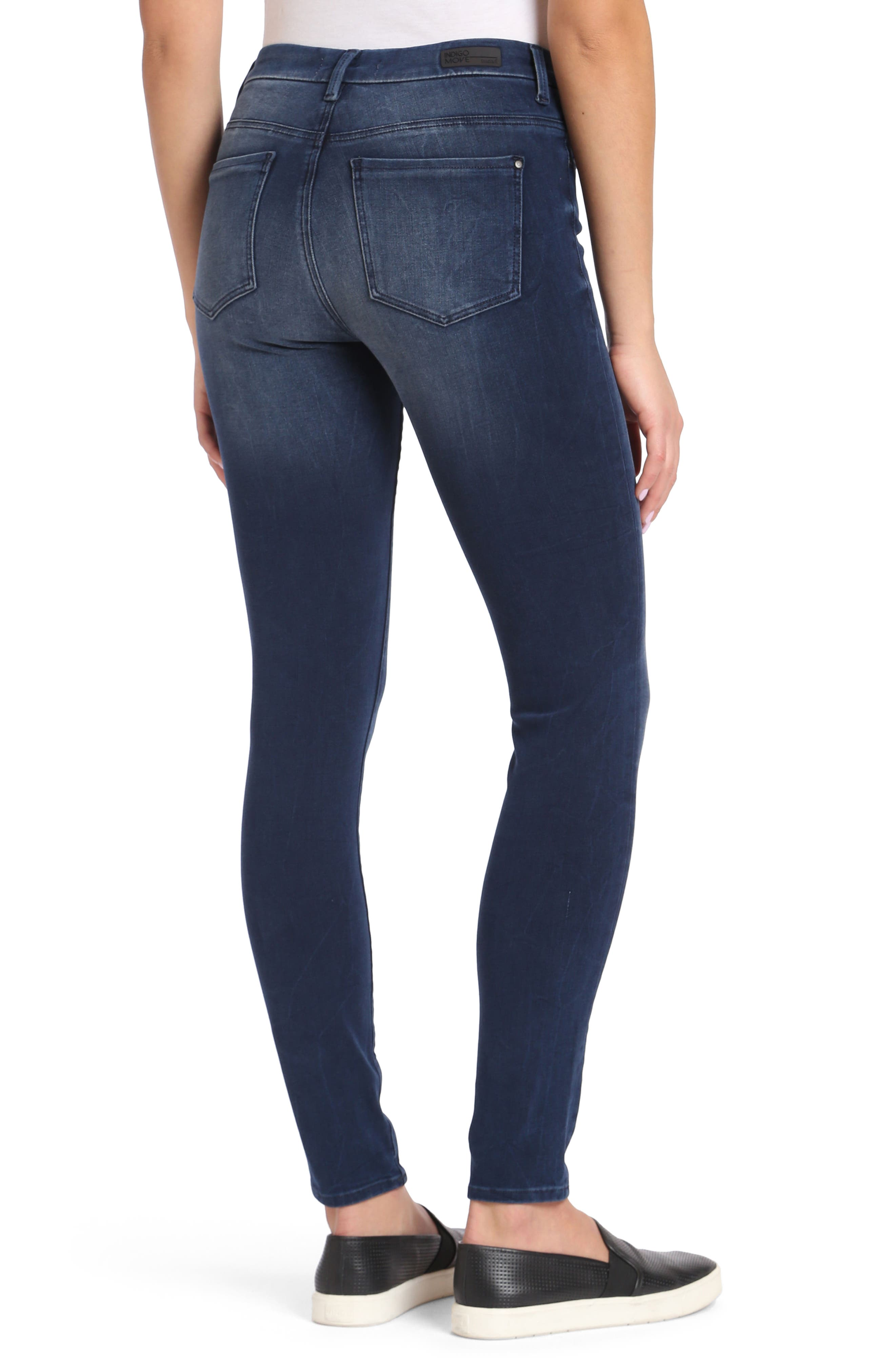 Alissa Stretch Slim High Rise Ankle Jeans,                             Alternate thumbnail 2, color,                             Ink Bi Stretch