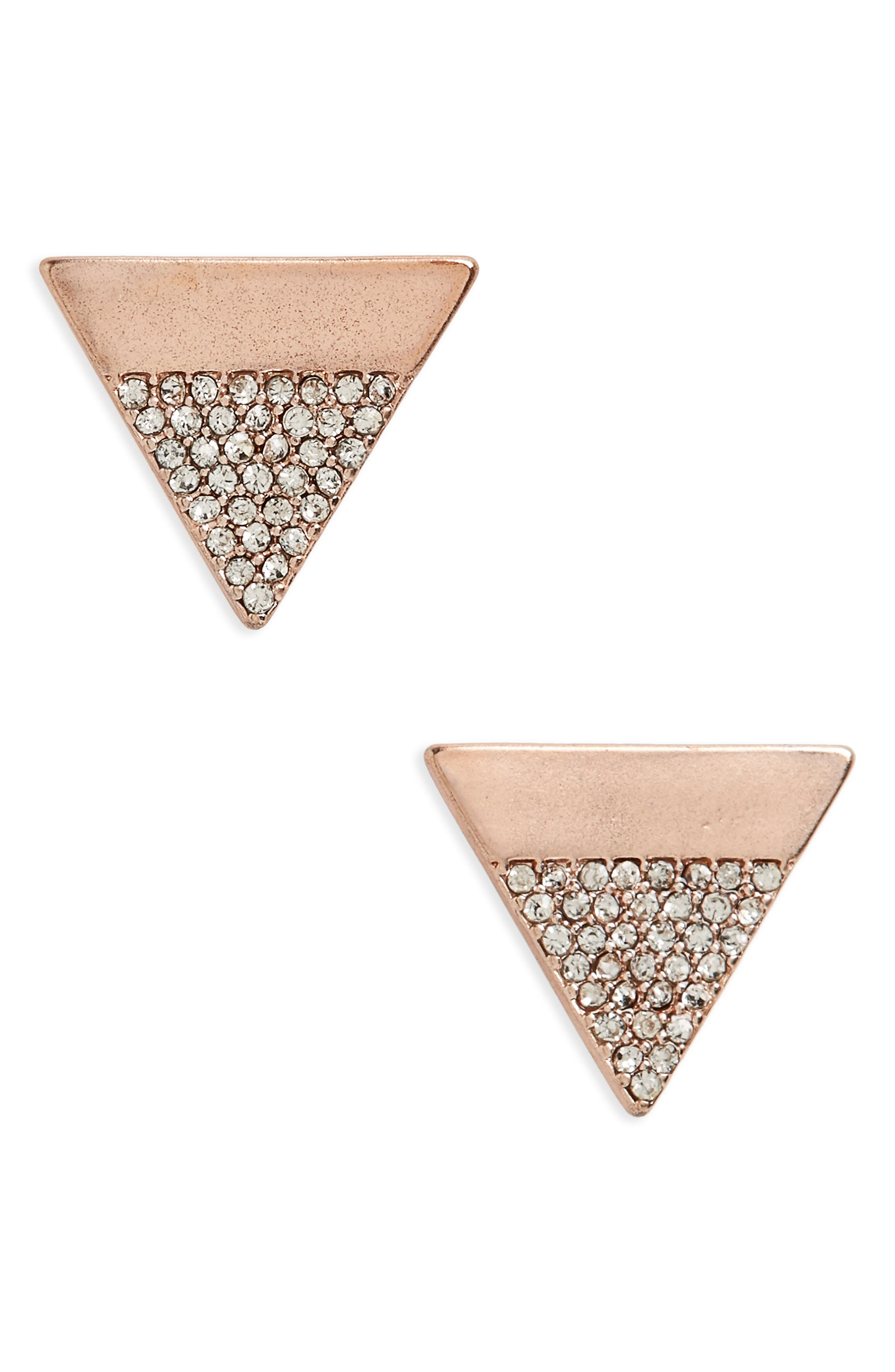 CANVAS JEWELRY Canvas Pavé Triangle Stud Earrings