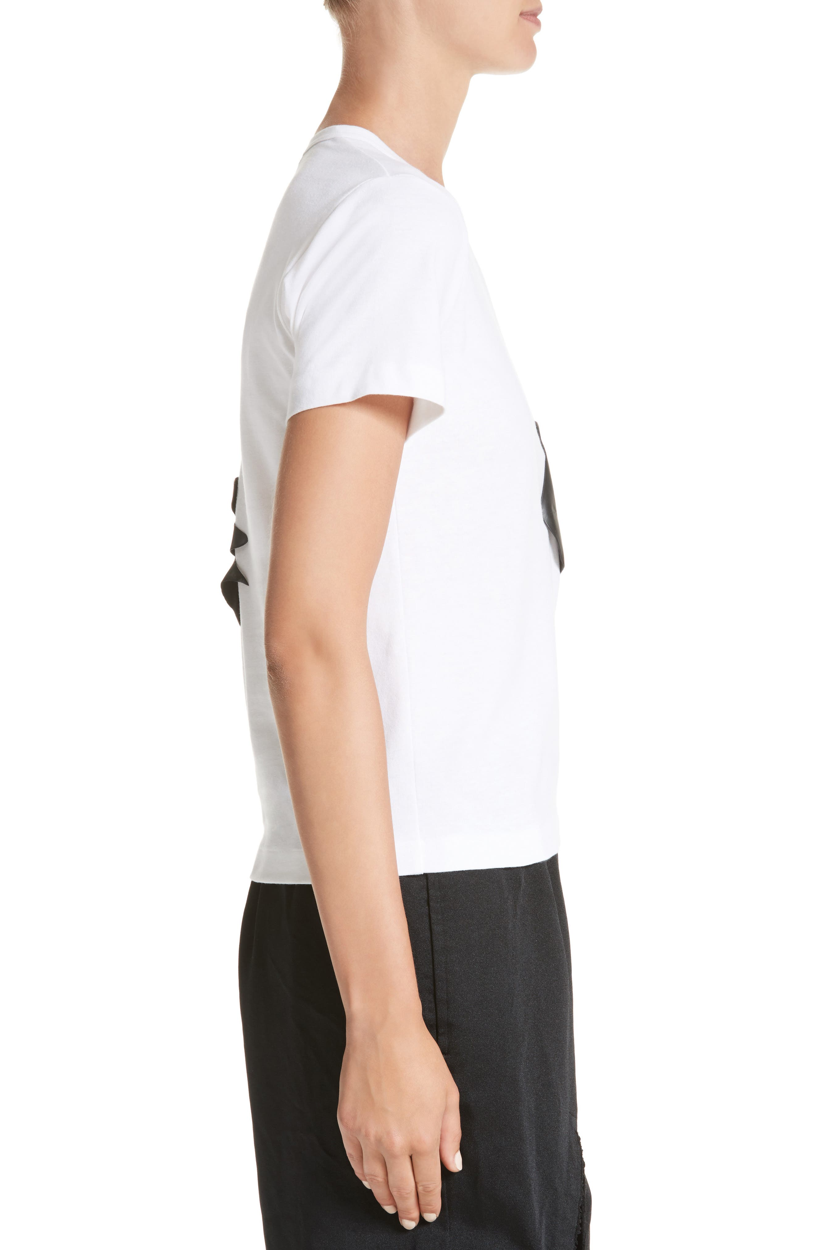 Rubber Graphic Tee,                             Alternate thumbnail 3, color,                             White/ Black