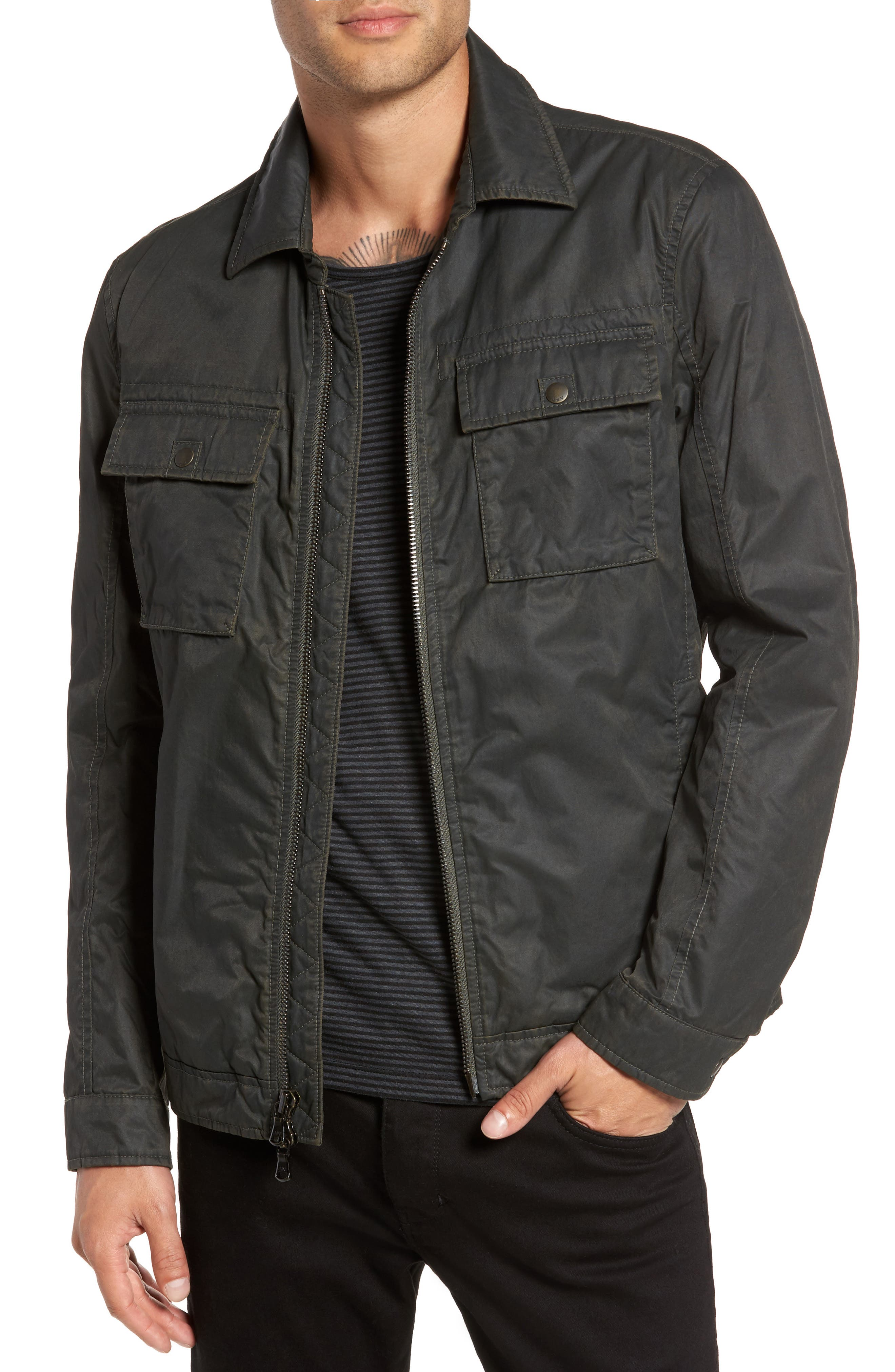 John Varvatos Star USA Zip Military Jacket