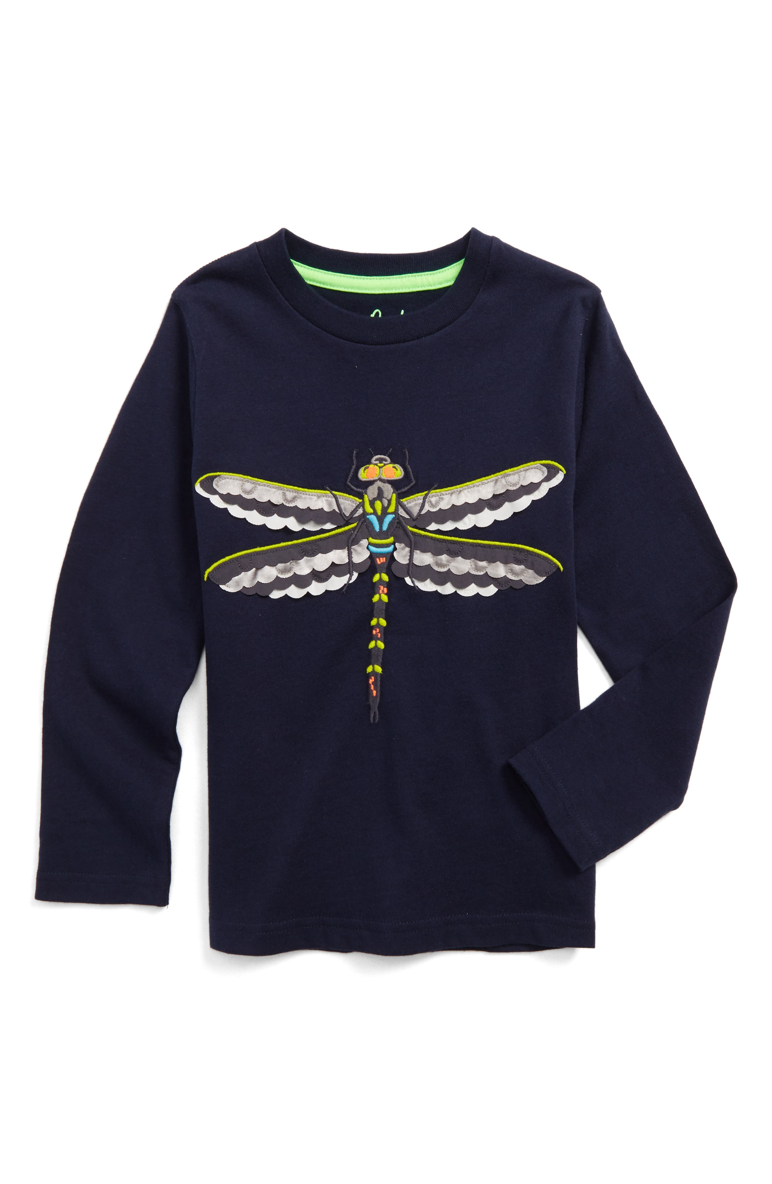 Textured Creature T-Shirt,                         Main,                         color, Navy Dragonfly