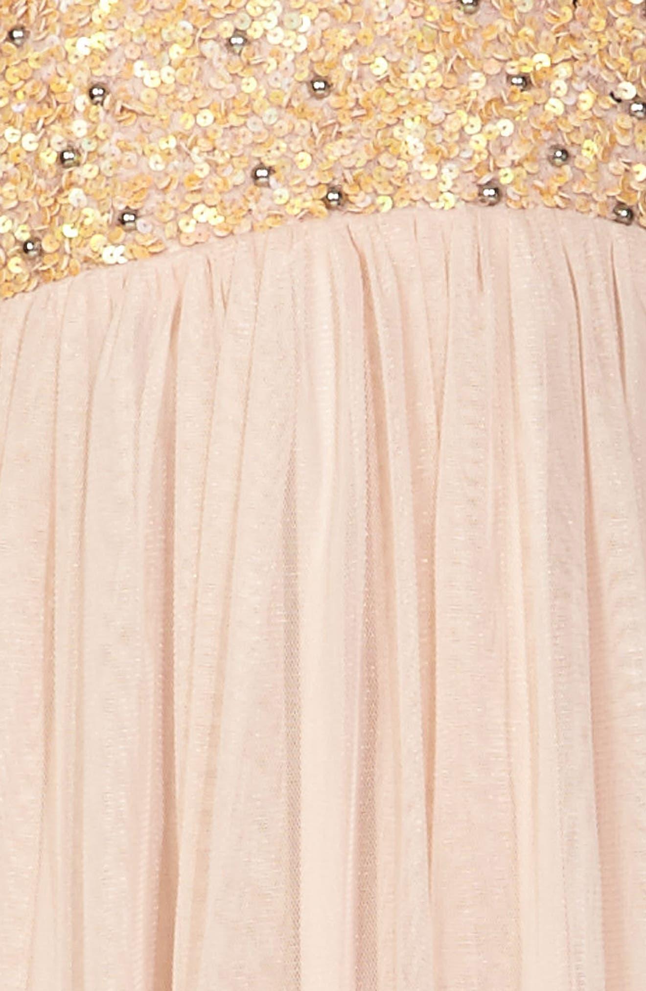 Alternate Image 3  - Lace & Beads Irina Embellished Chiffon Dress