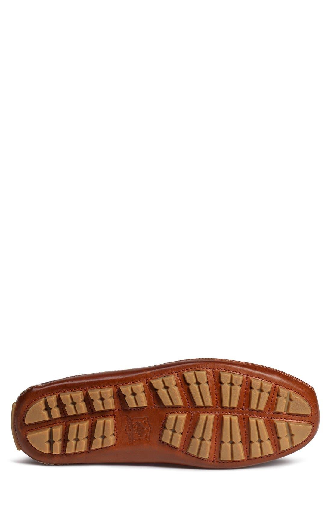'Drake' Leather Driving Shoe,                             Alternate thumbnail 4, color,                             Saddle Tan