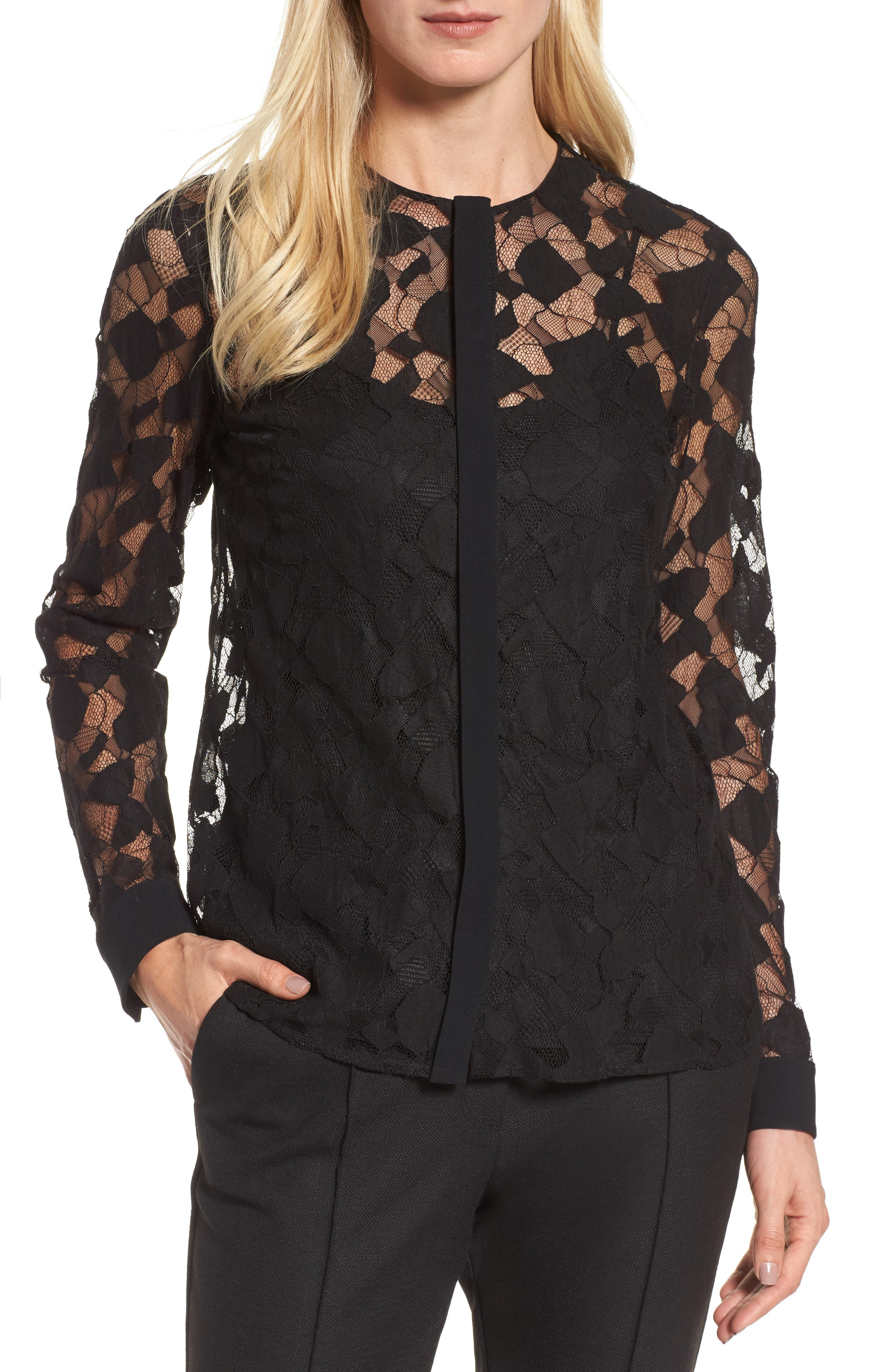 Alternate Image 1 Selected - BOSS Banela Lace Blouse