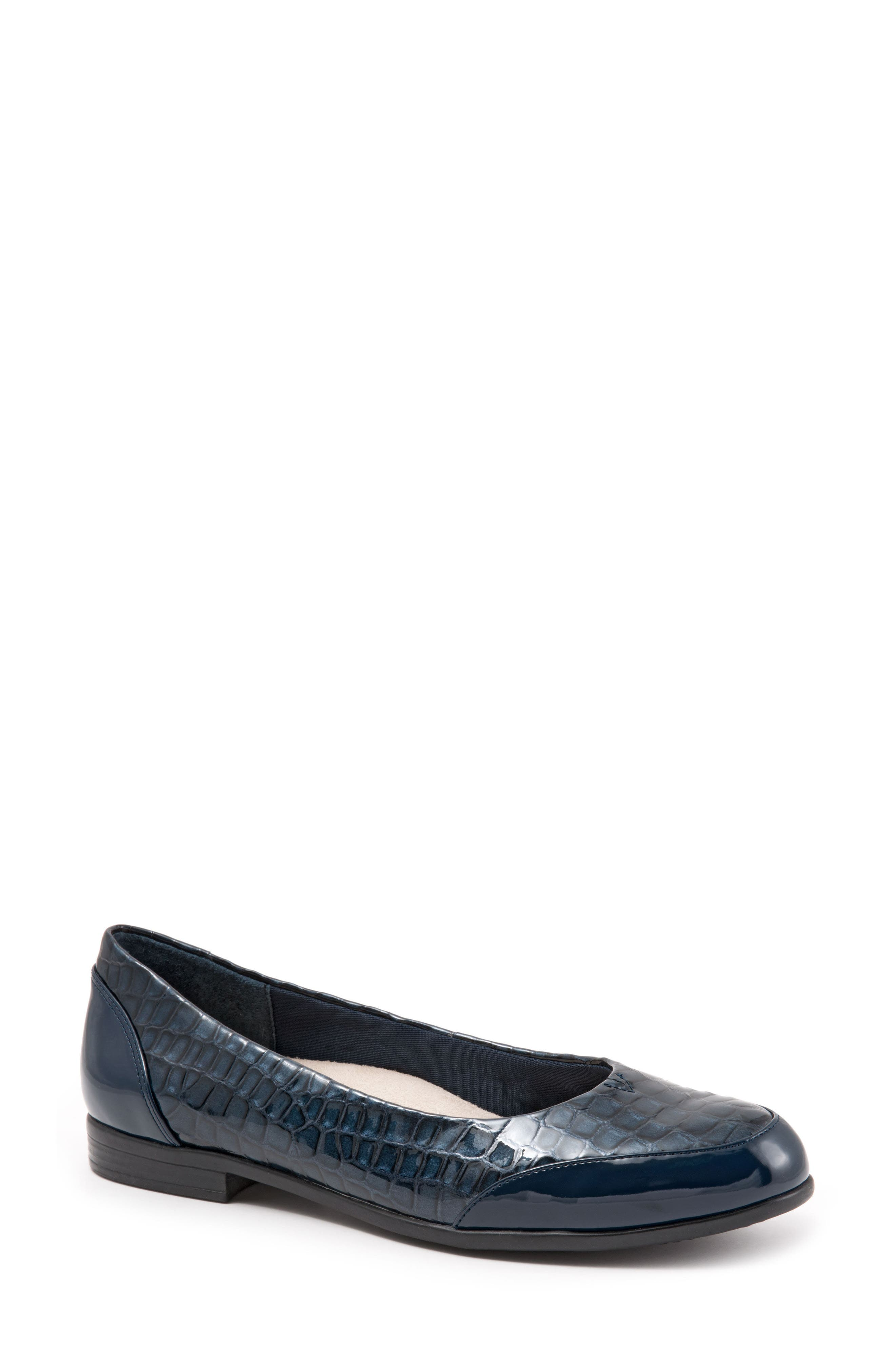 Arnello Flat,                             Main thumbnail 1, color,                             Navy Leather
