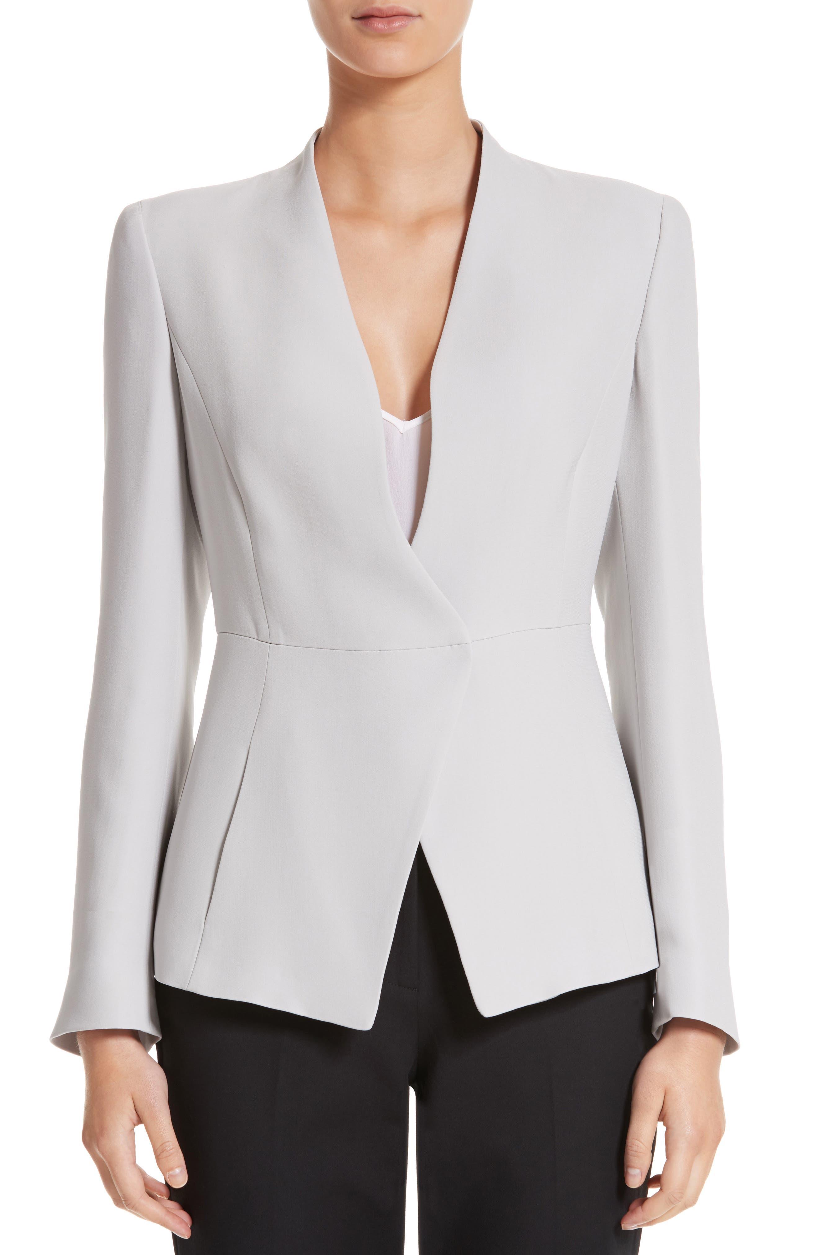 Main Image - Armani Collezioni Asymmetrical Cady Jacket