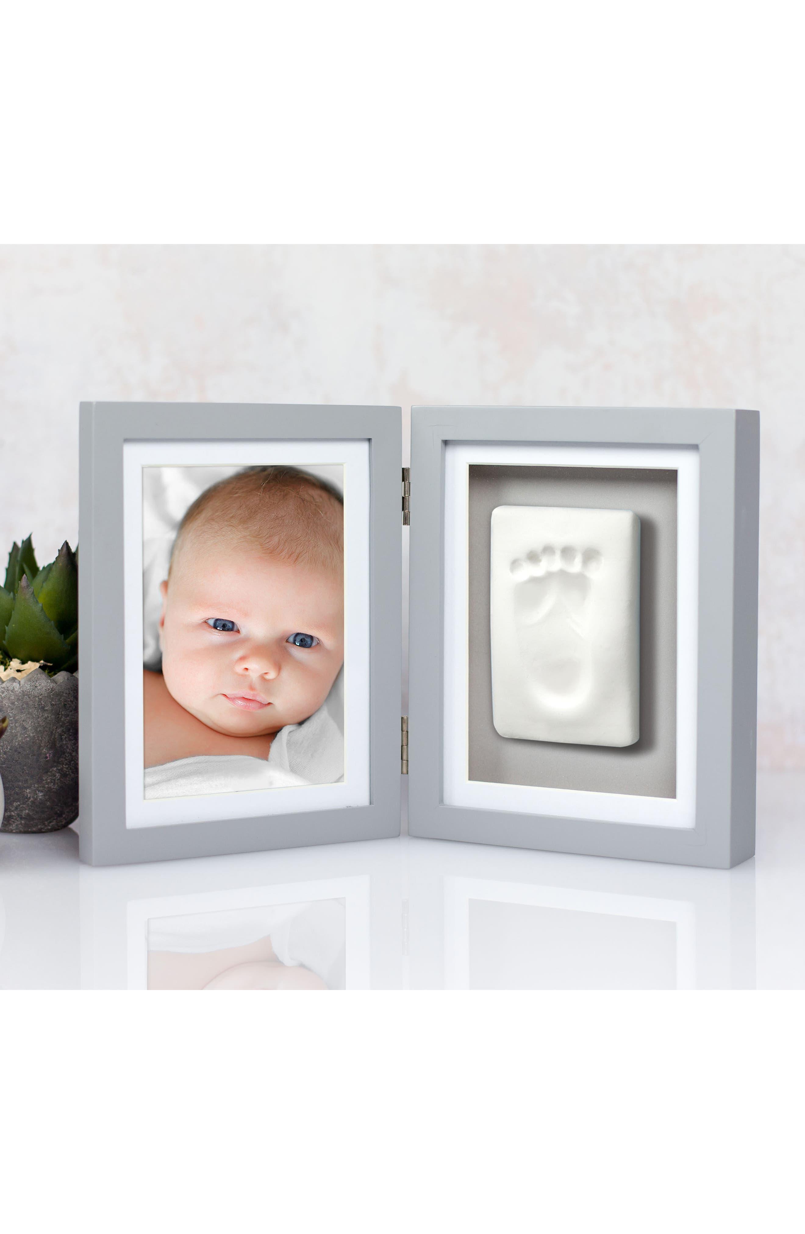 Babyprints Desk Frame,                             Alternate thumbnail 4, color,                             Grey