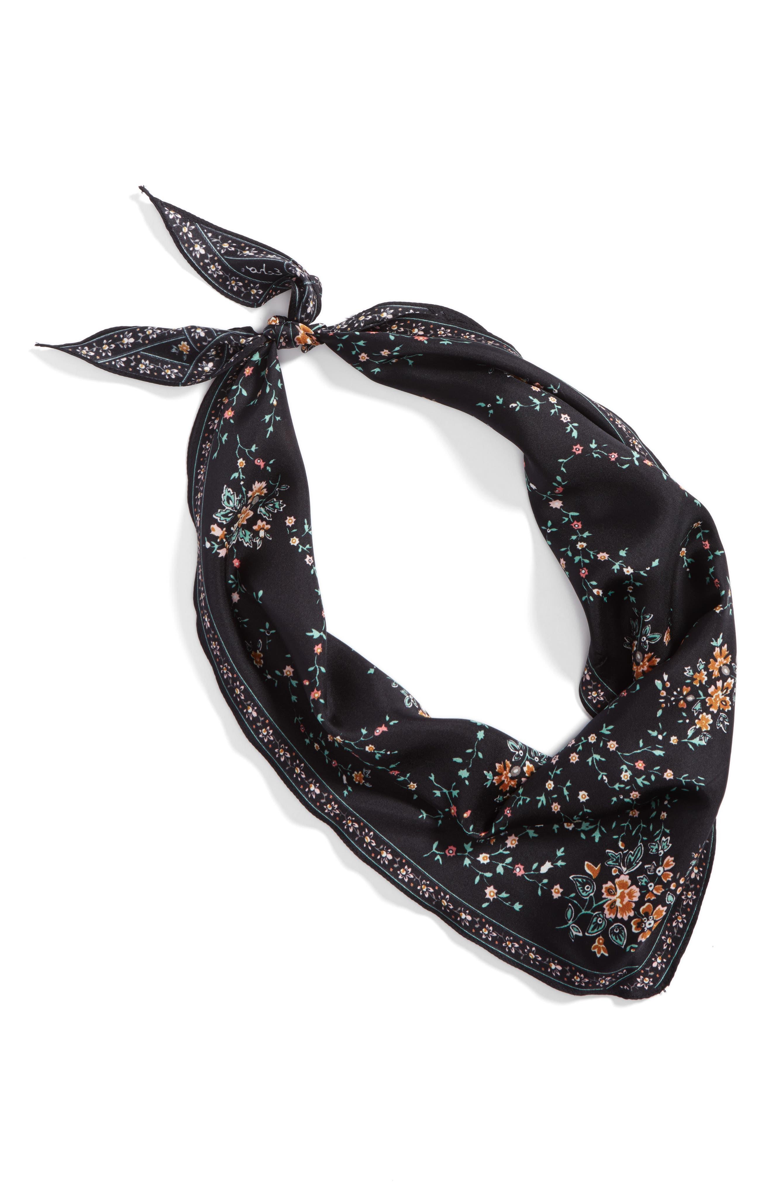 Alternate Image 2  - Echo Floral Lace Silk Diamond Scarf