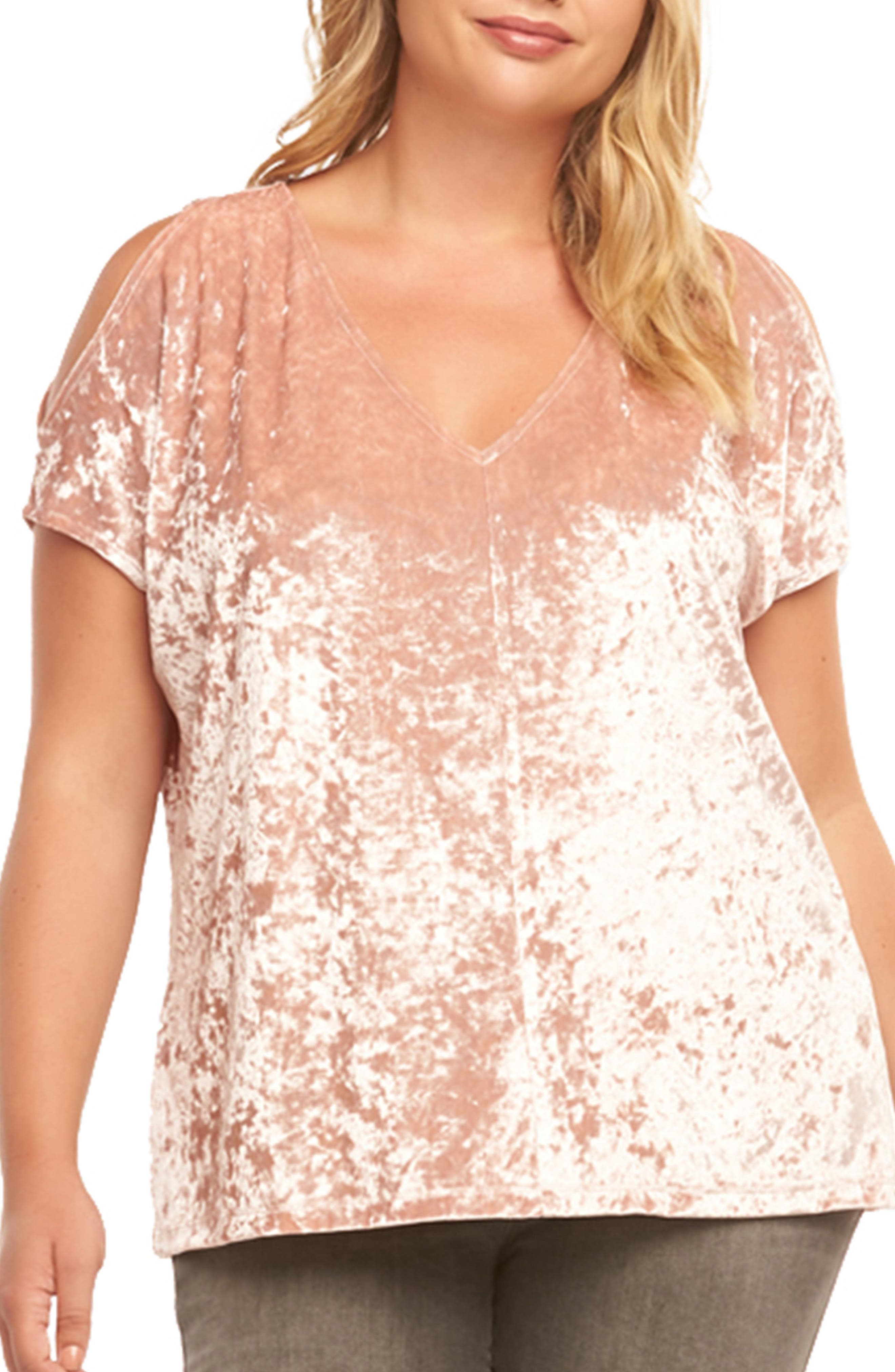 Rocky Cold Shoulder Top,                             Main thumbnail 1, color,                             Dusty Rose