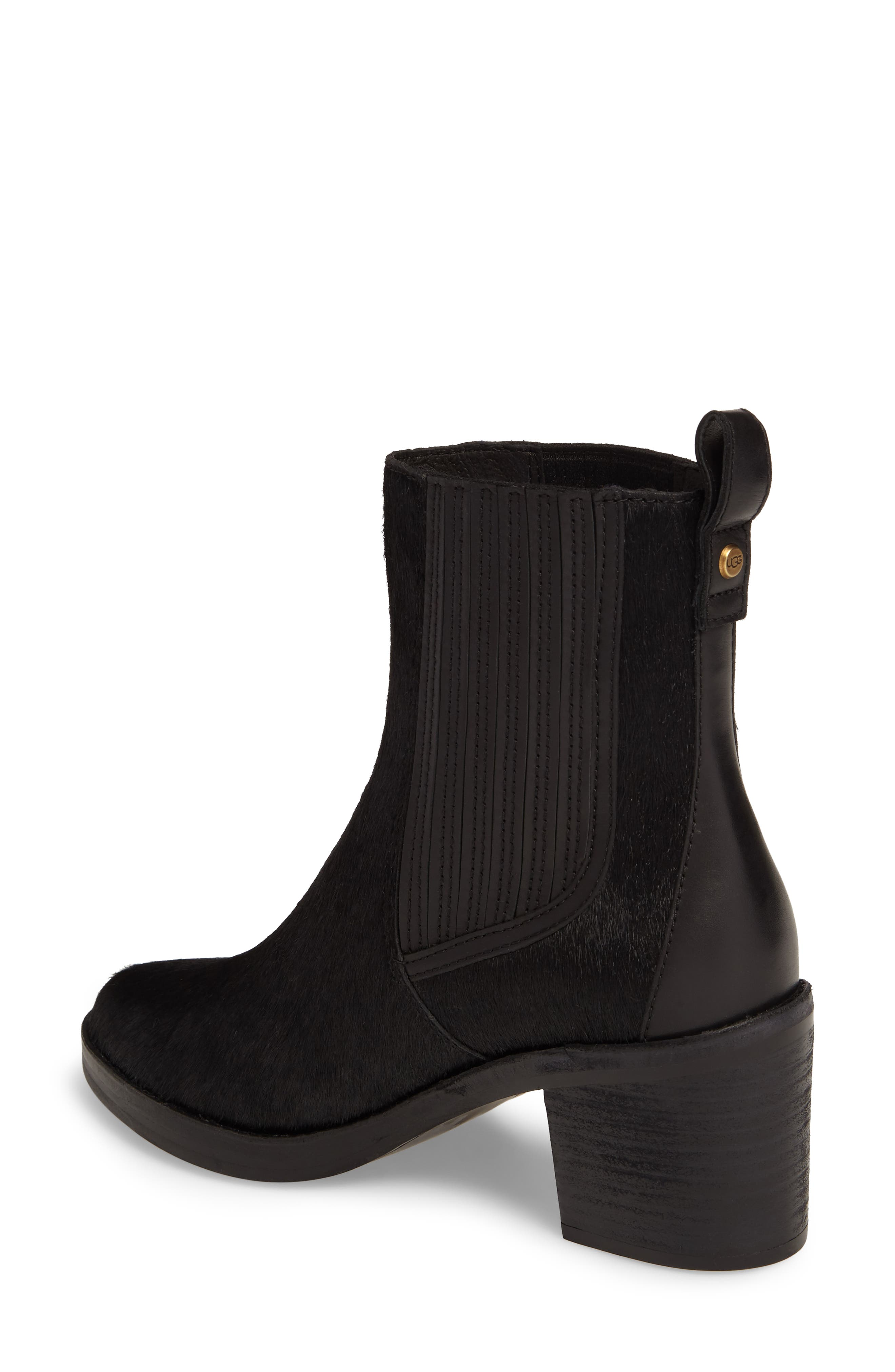Camden Genuine Calf Hair Chelsea Boot,                             Alternate thumbnail 2, color,                             Black Calf Hair Leather