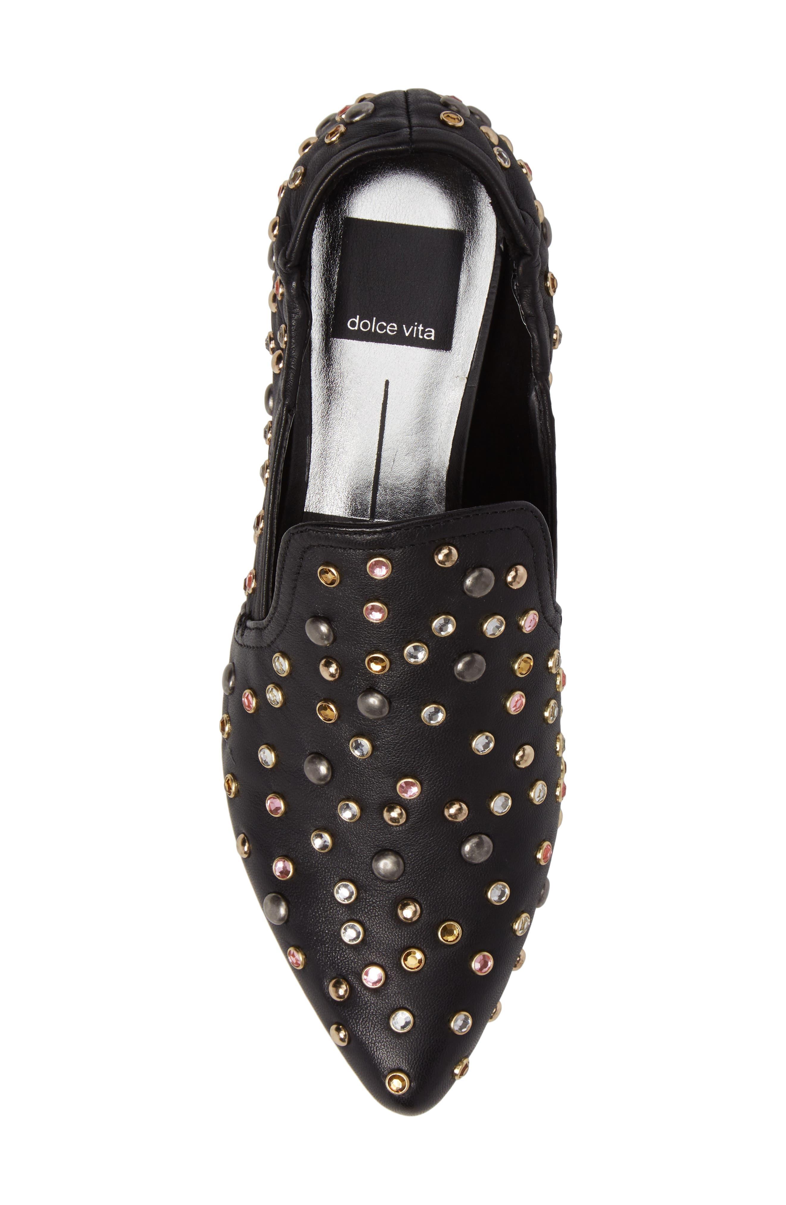 Alternate Image 5  - Dolce Vita Hamond Stud Embellished Loafer Flat (Women)