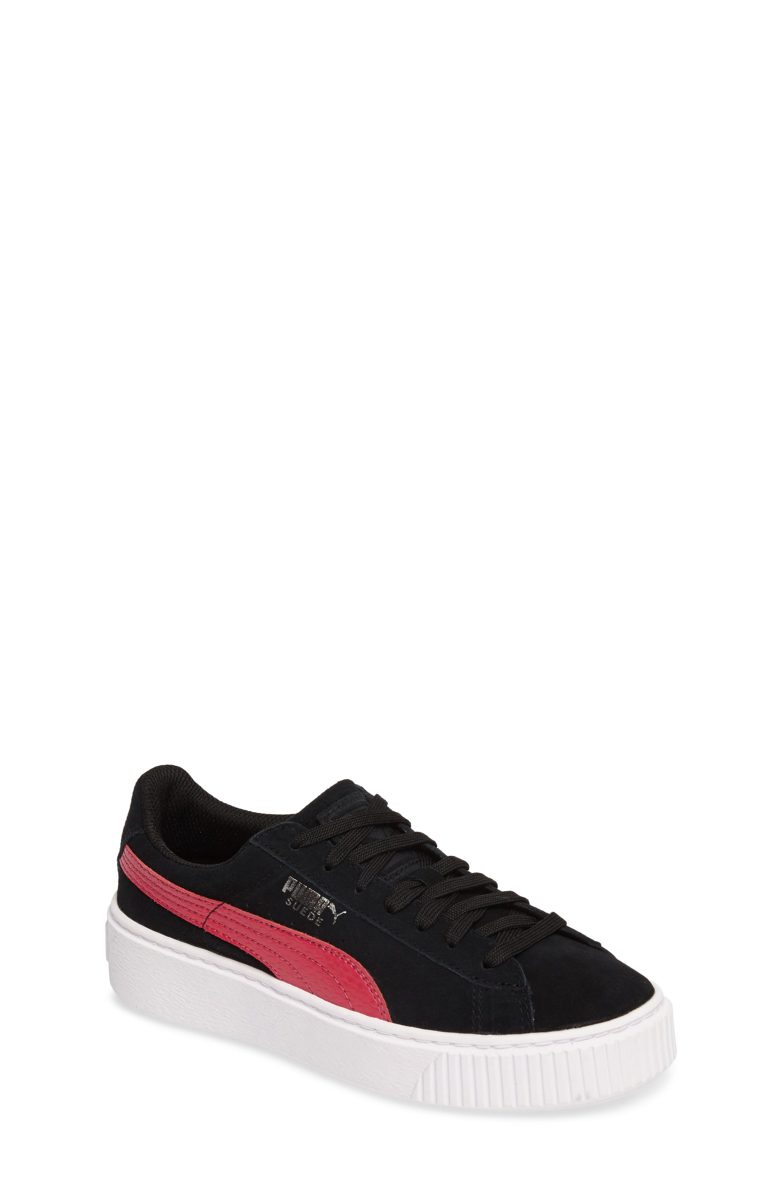 Alternate Image 1 Selected - PUMA Platform Sneaker (Big Kid)