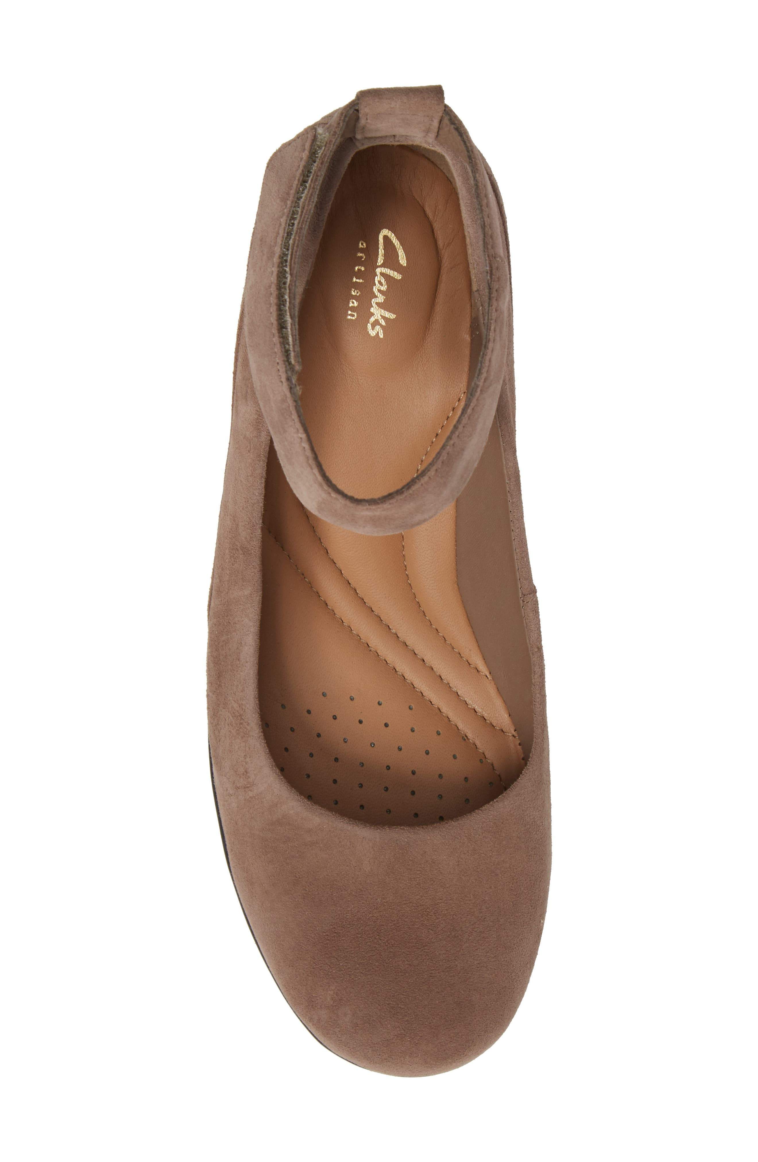 Wynnmere Fox Ankle Strap Pump,                             Alternate thumbnail 5, color,                             Pebble Suede